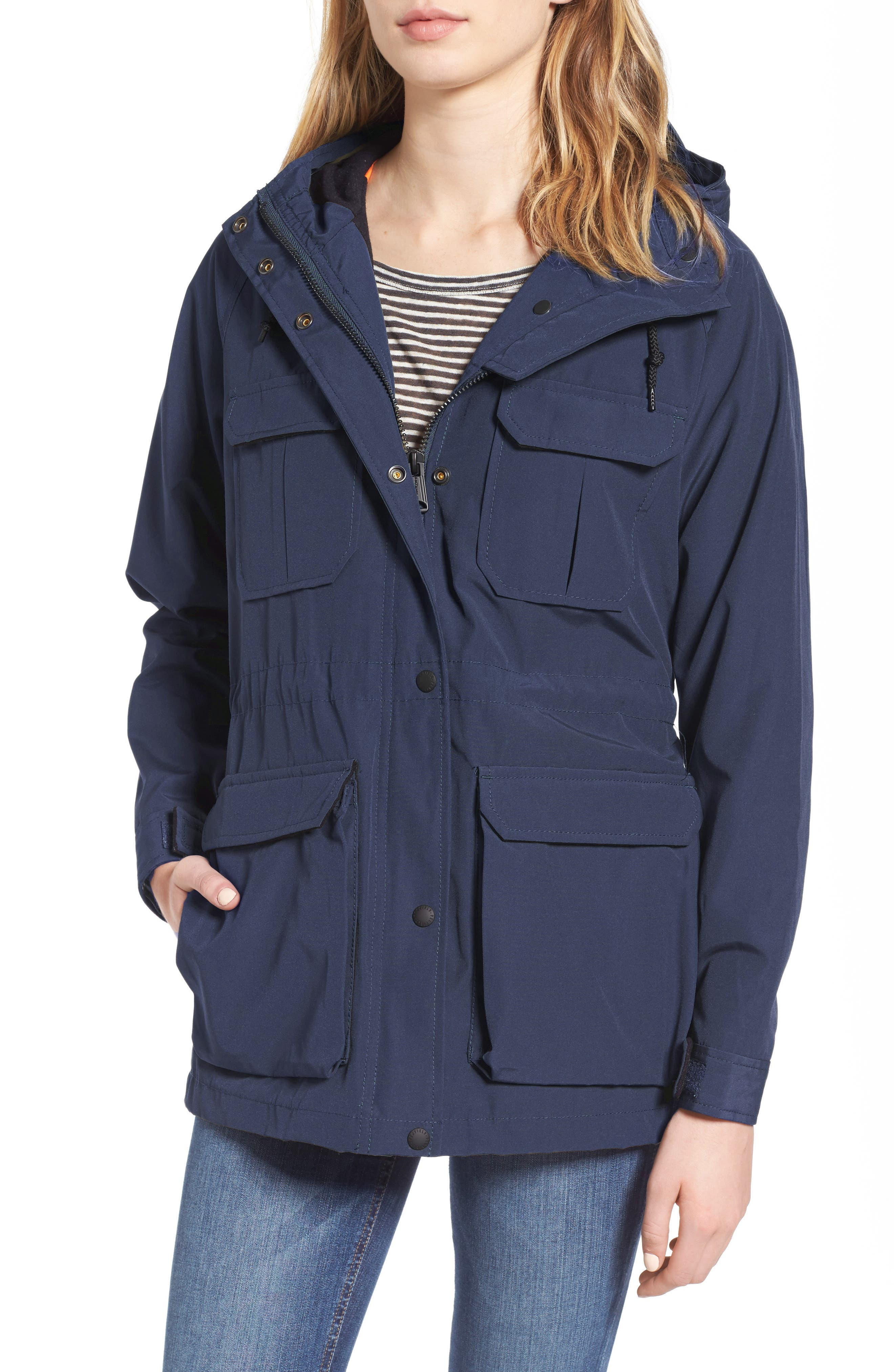 'Kasson' Double Layer Mountain Parka,                             Main thumbnail 1, color,                             Navy