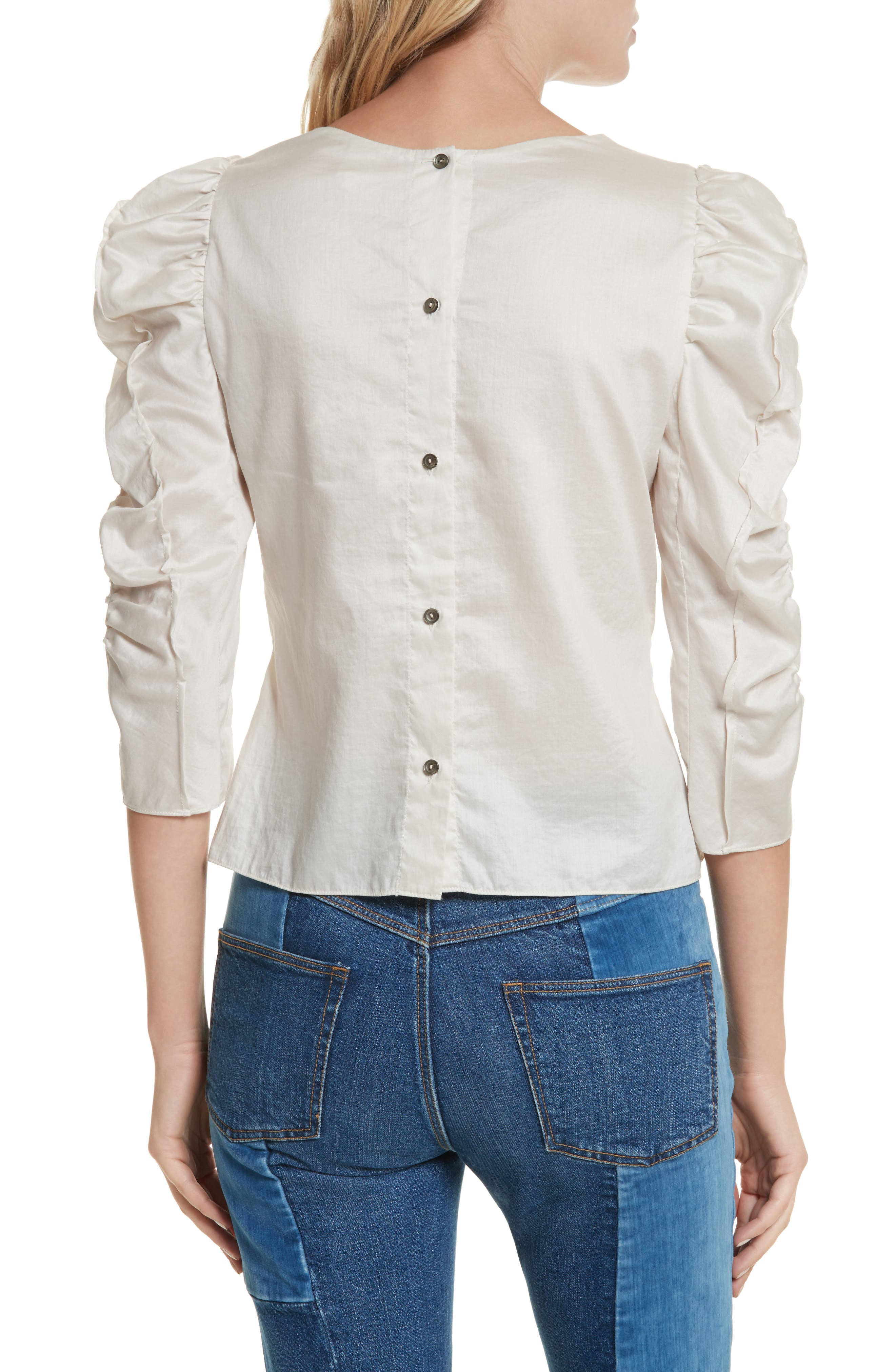 Washed Sateen Top,                             Alternate thumbnail 2, color,                             Sand