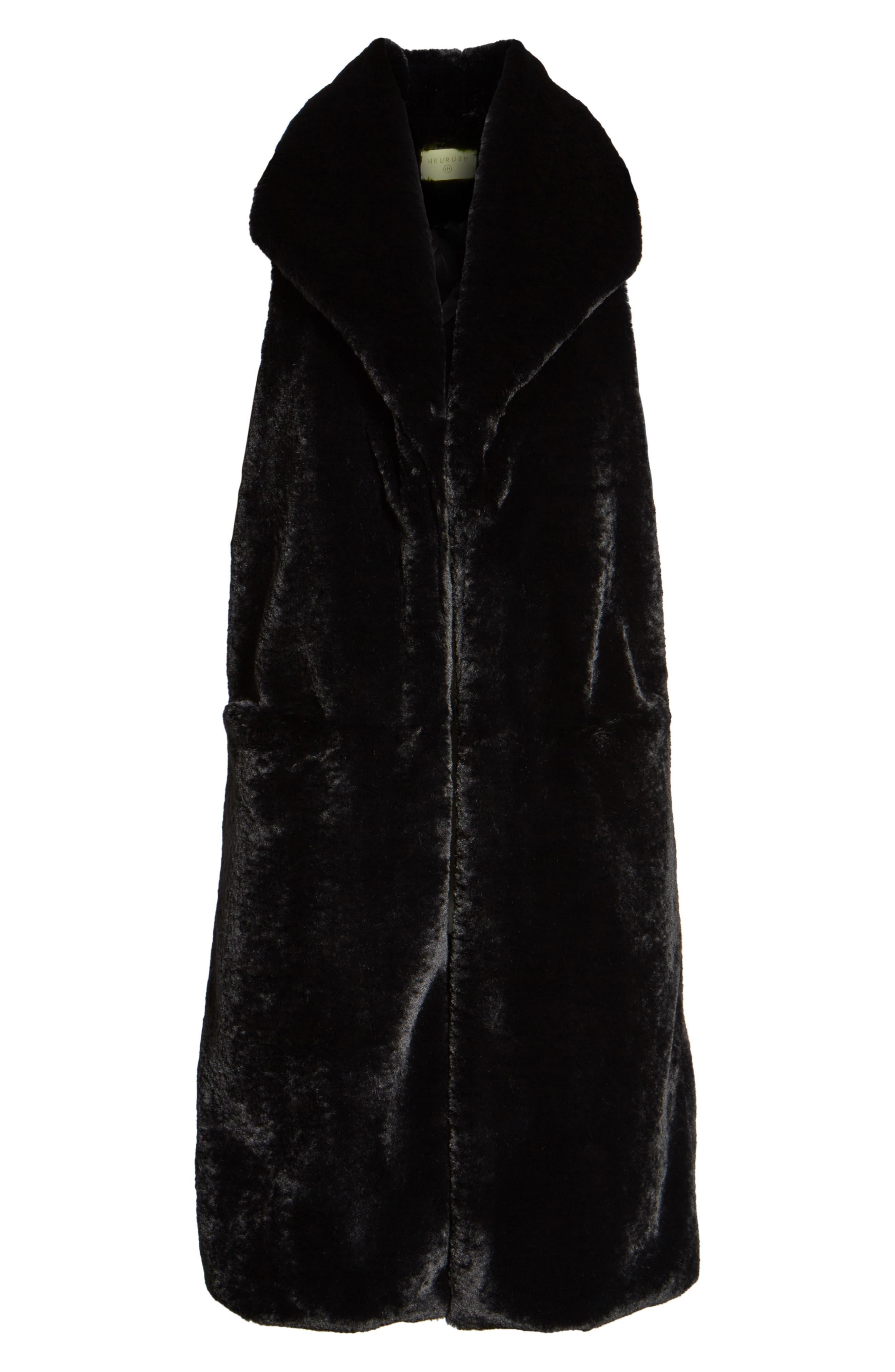 Alternate Image 6  - Heurueh Heather Faux Mink Fur Vest
