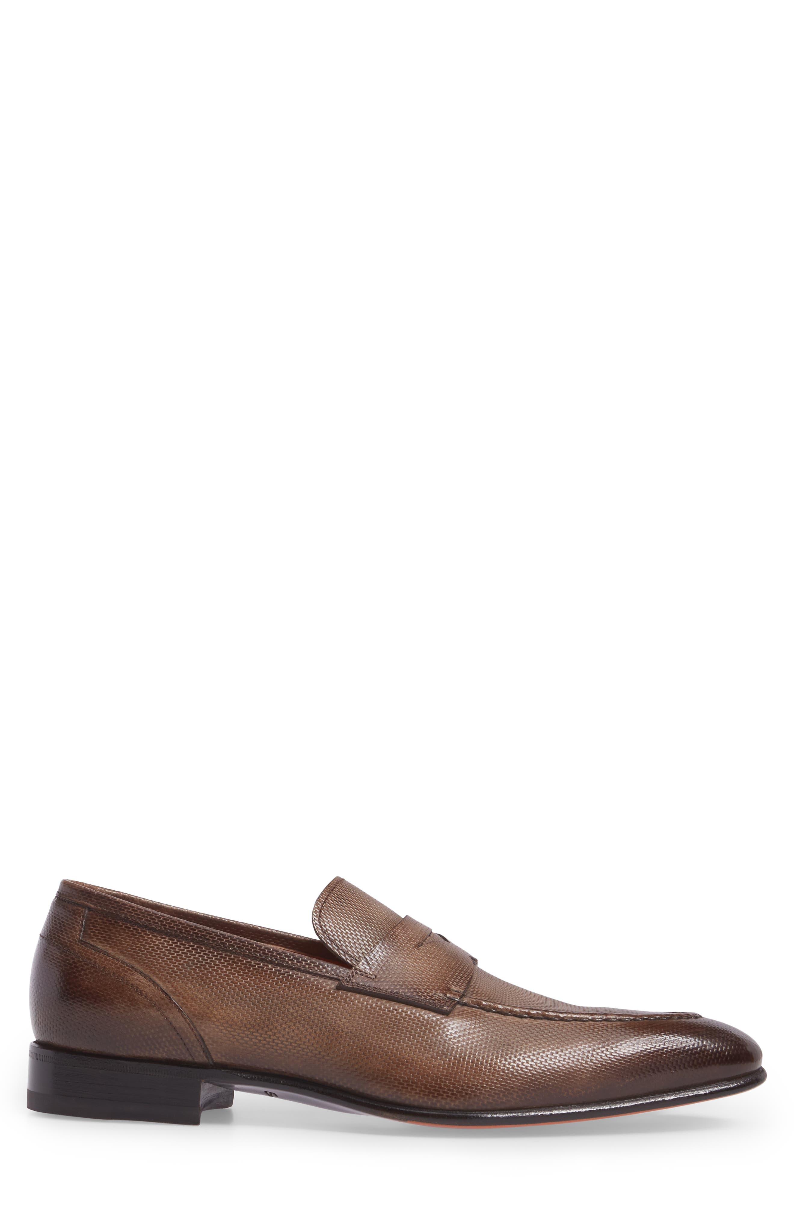 Felipe Penny Loafer,                             Alternate thumbnail 3, color,                             Brown