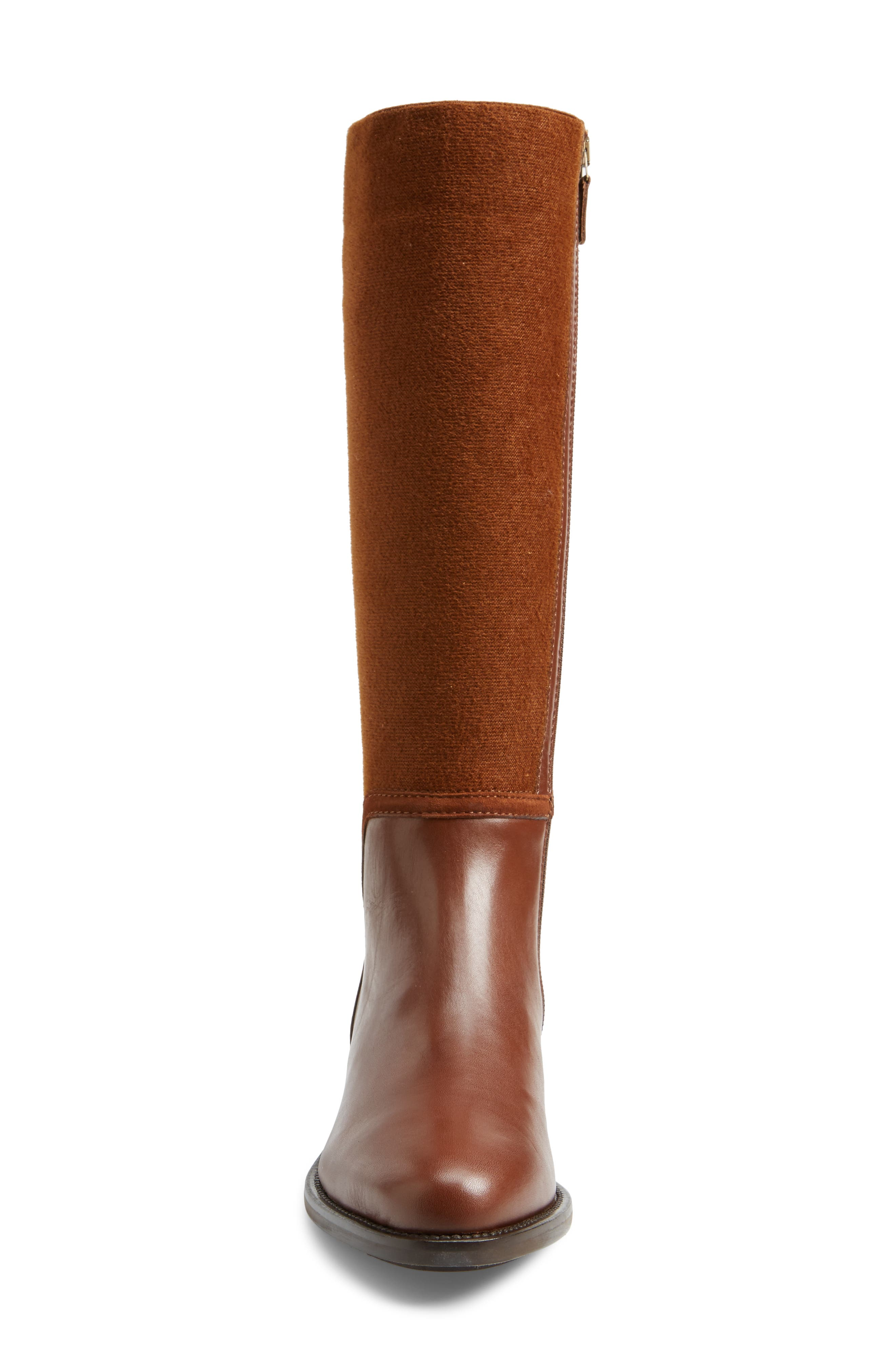 Nicolette Weatherproof Knee High Boot,                             Alternate thumbnail 4, color,                             Castagno Calf/ Elastic