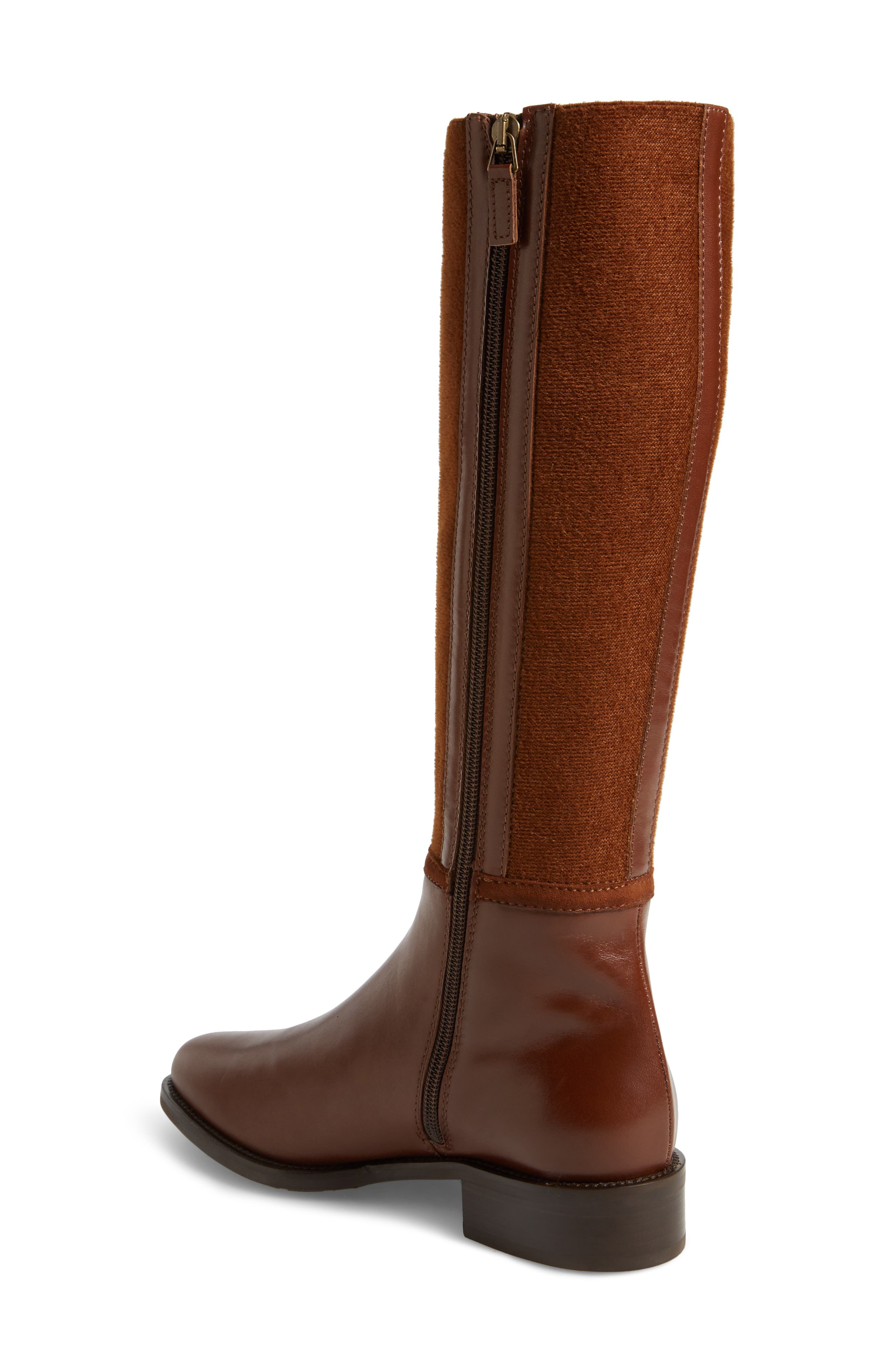 Nicolette Weatherproof Knee High Boot,                             Alternate thumbnail 2, color,                             Castagno Calf/ Elastic