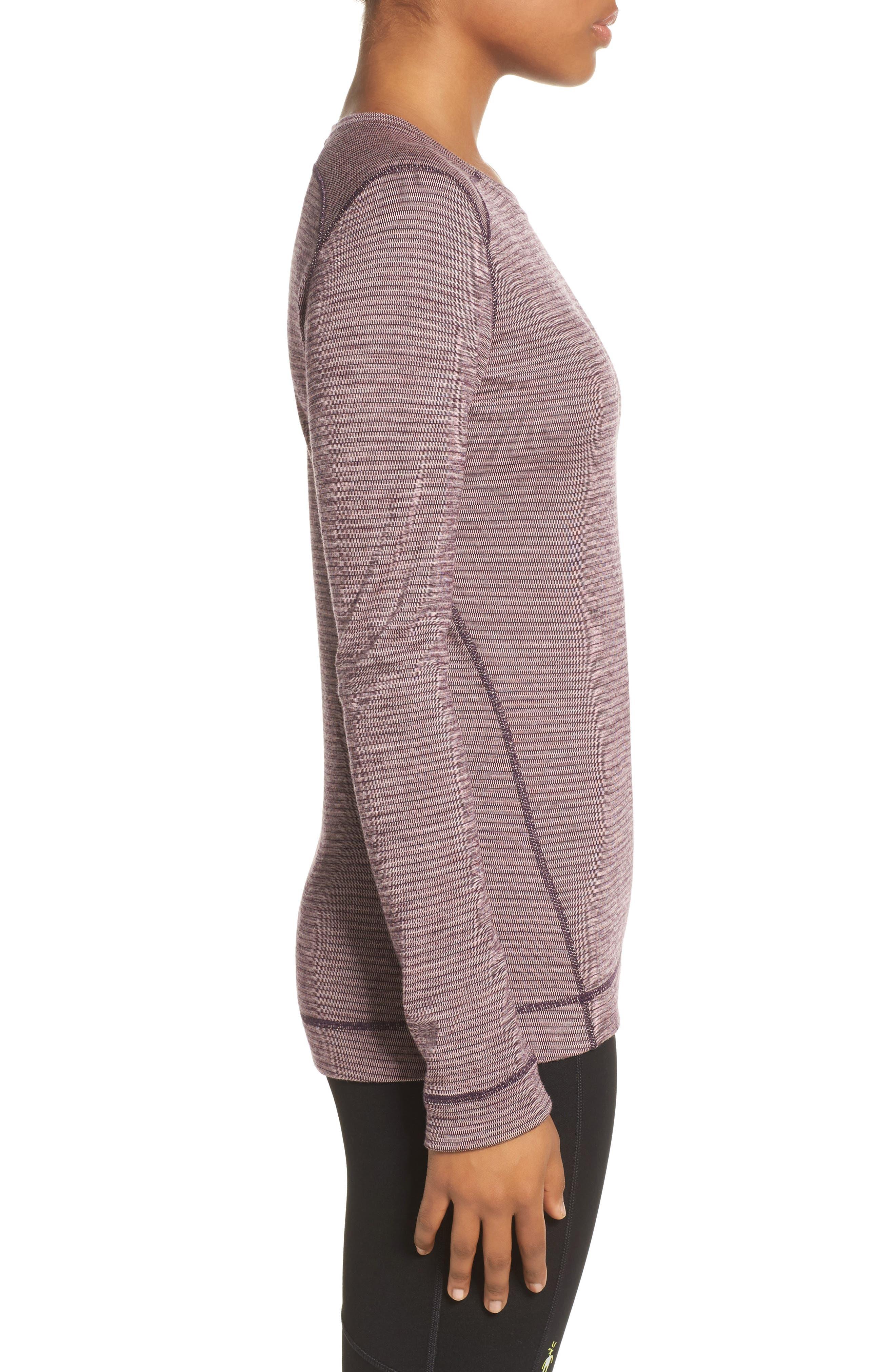 Merino Wool 250 Base Layer Top,                             Alternate thumbnail 3, color,                             Bordeaux