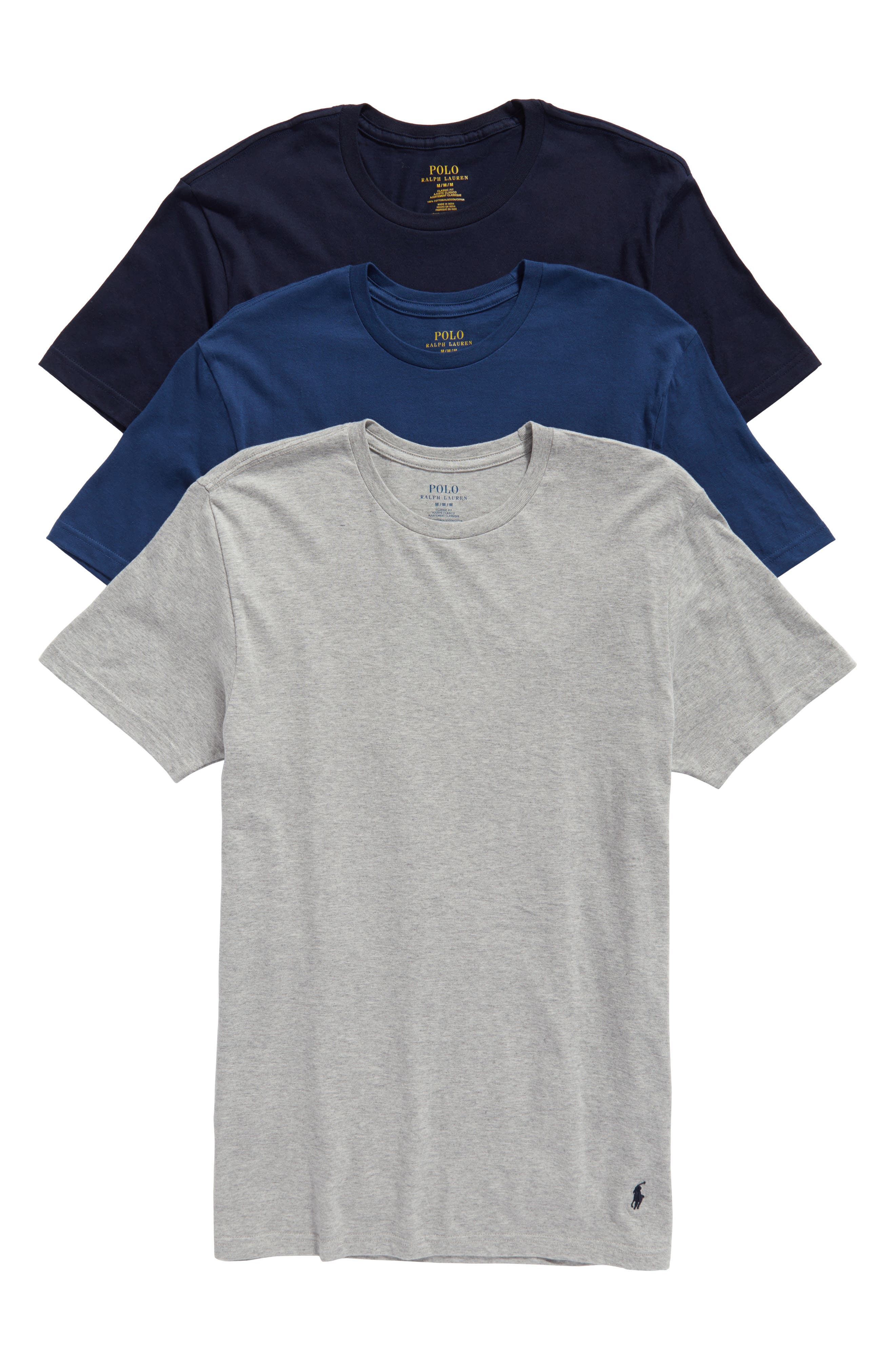 Alternate Image 1 Selected - Polo Ralph Lauren Classic Fit 3-Pack Cotton T-Shirt