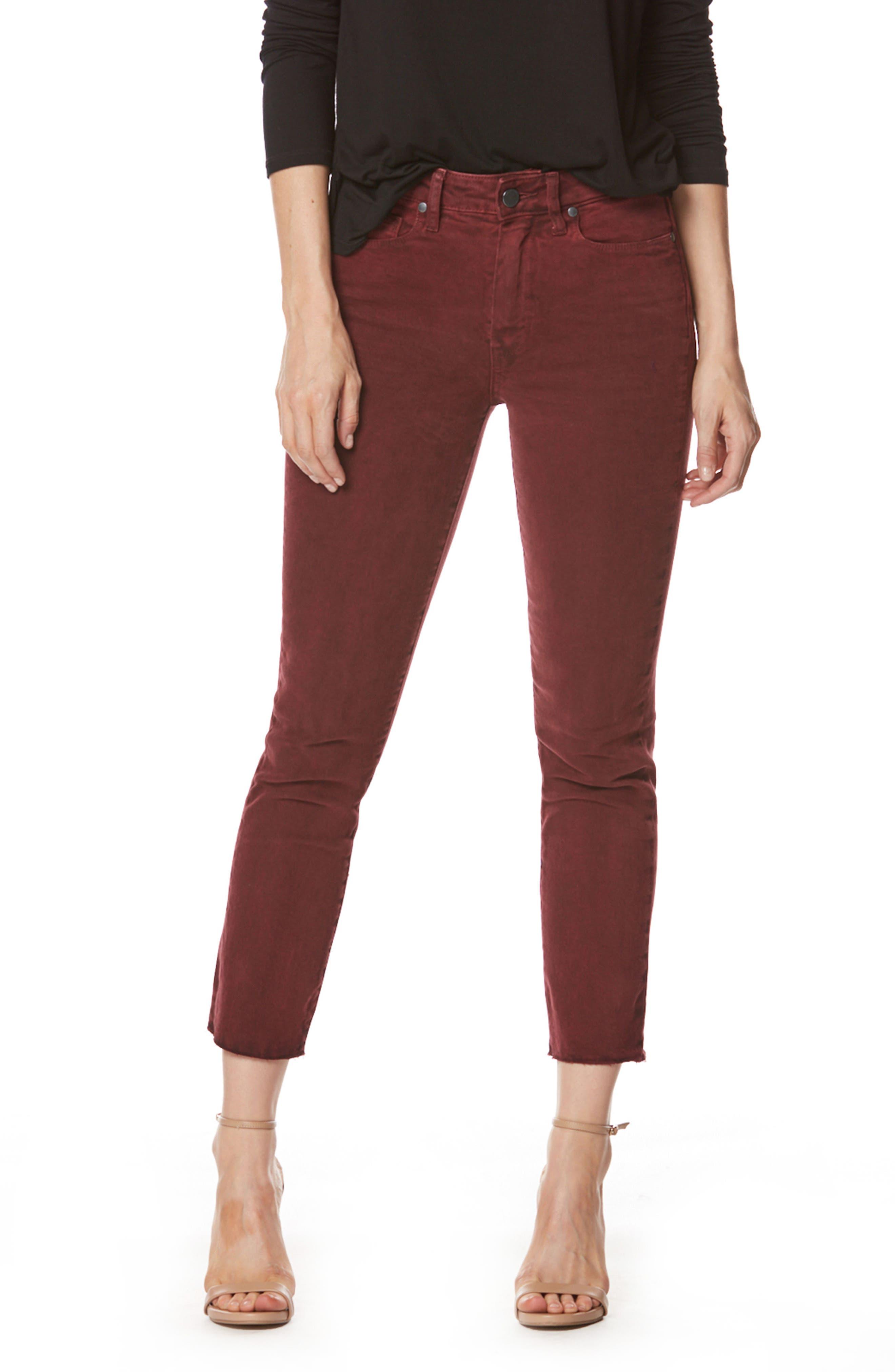 Alternate Image 1 Selected - PAIGE Jacqueline High Waist Crop Straight Leg Jeans