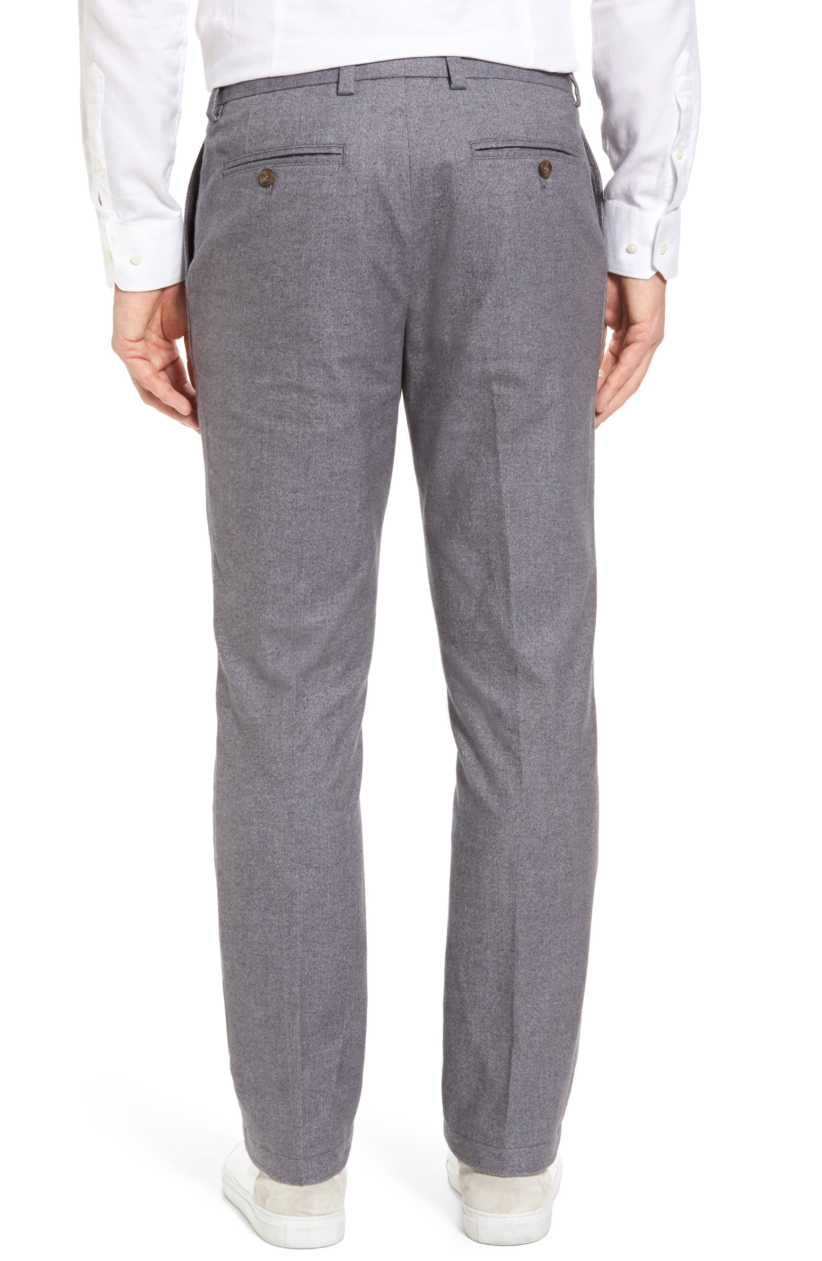 Straight Fit Oxford Burgee Pants,                             Alternate thumbnail 2, color,                             Charcoal