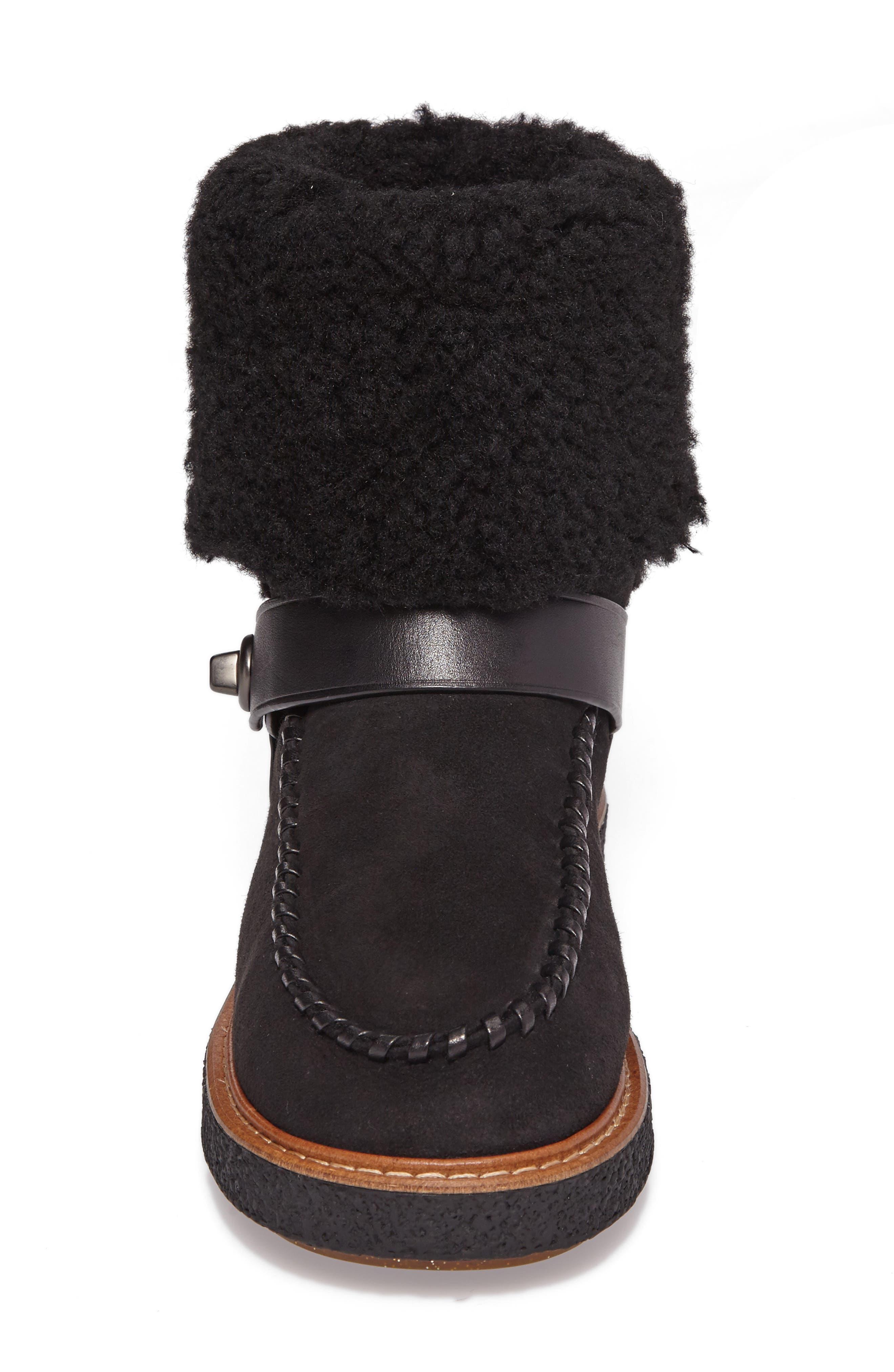 Alternate Image 4  - COACH Genuine Shearling Moto Boot (Women)