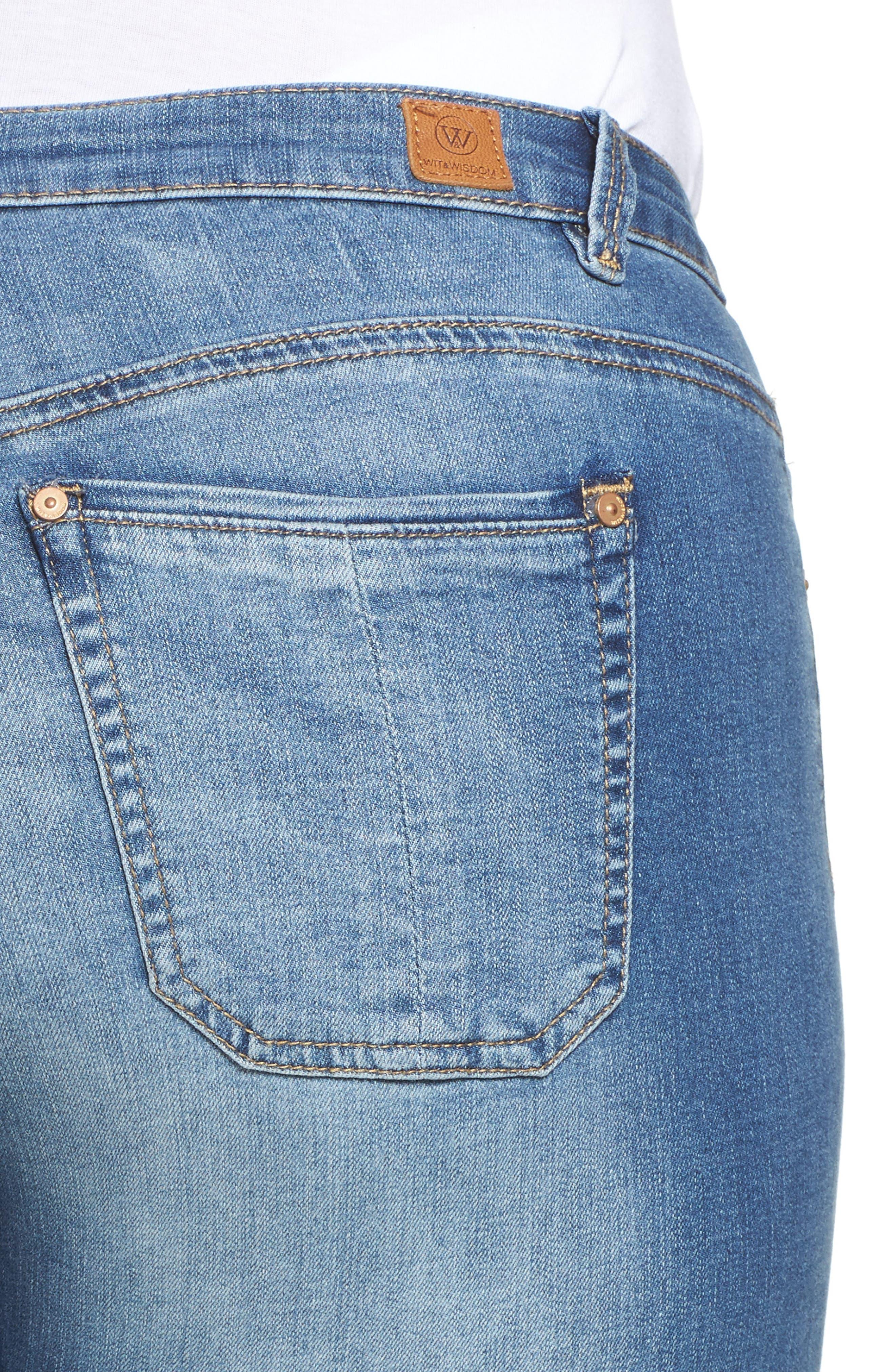 Alternate Image 4  - Wit & Wisdom Frayed Hem Skinny Jeans (Plus Size) (Nordstrom Exclusive)