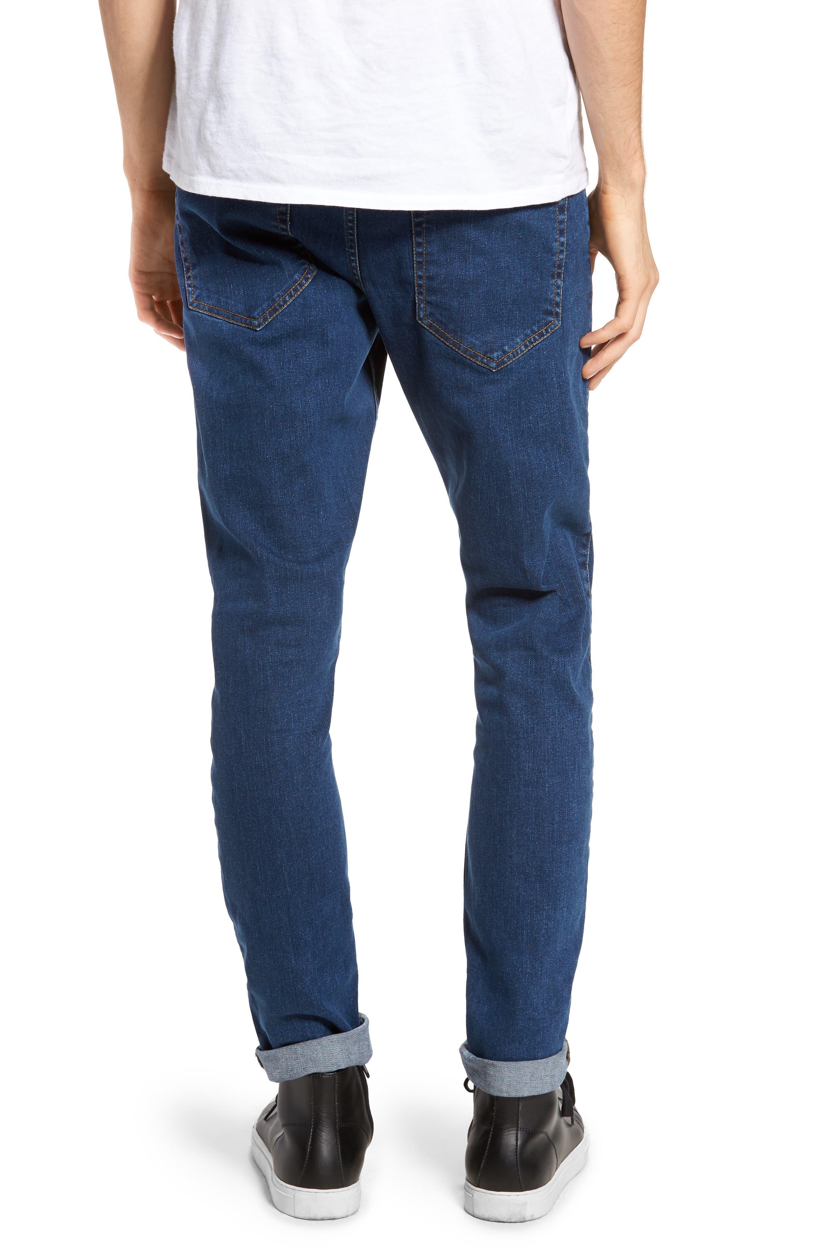 Clark Slim Straight Leg Jeans,                             Alternate thumbnail 2, color,                             Mid Retro