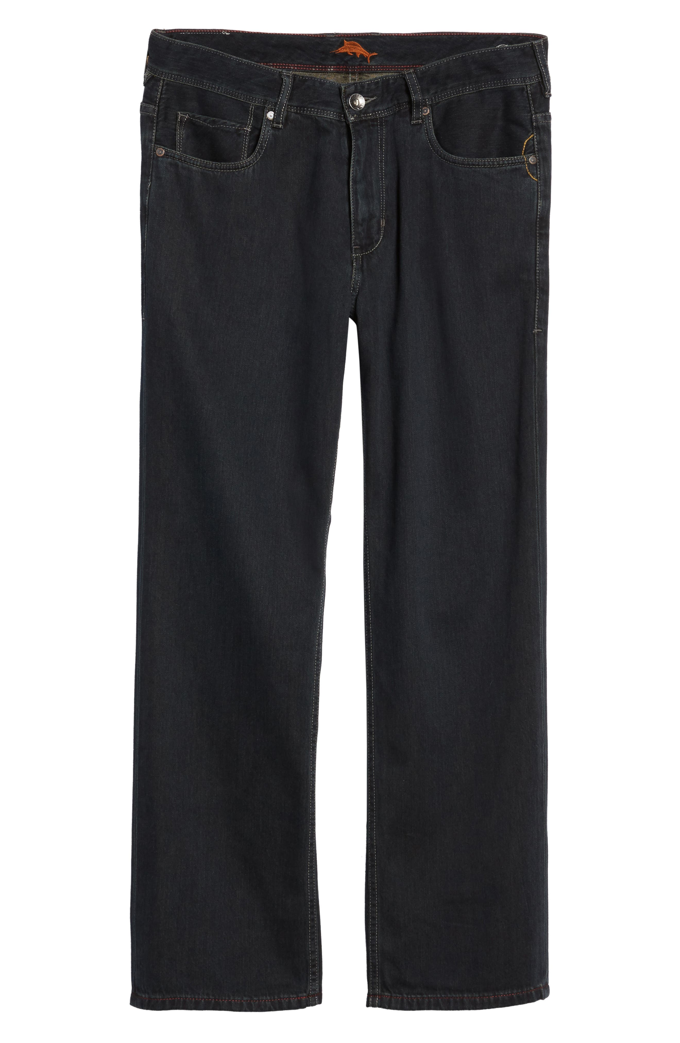 'Caymen' Relaxed Fit Straight Leg Jeans,                         Main,                         color, Black Overdye