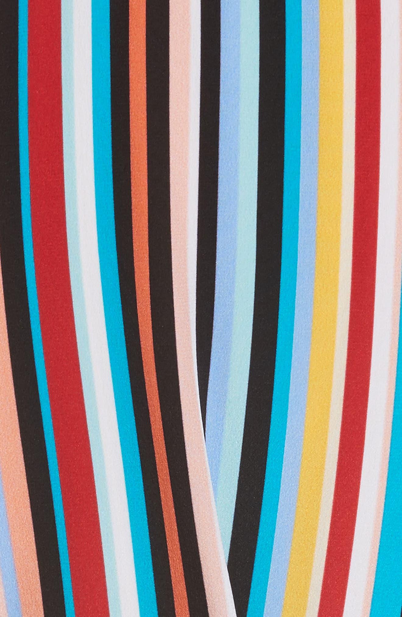 Stripe Silk Shirtdress,                             Alternate thumbnail 5, color,                             Skinny Stripes