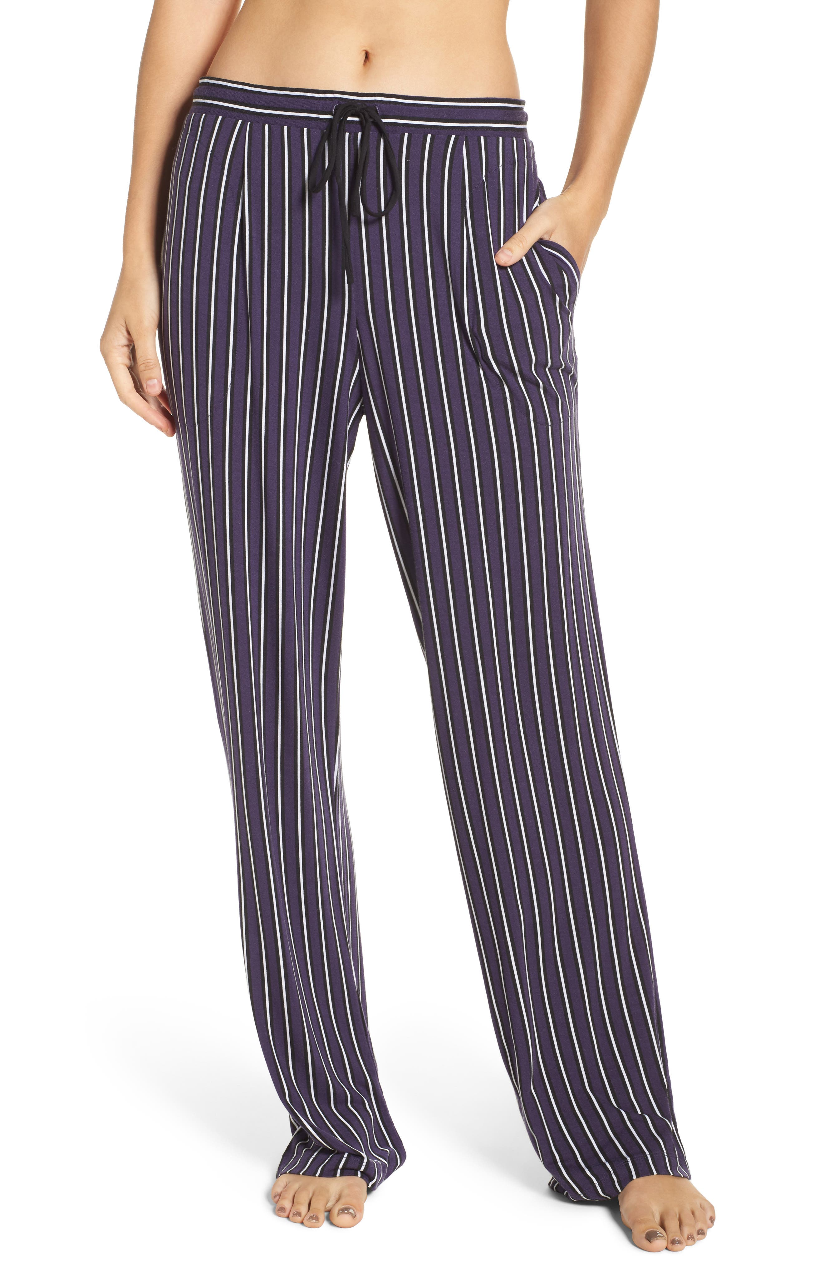 Jersey Lounge Pants,                         Main,                         color, Purple Stripe