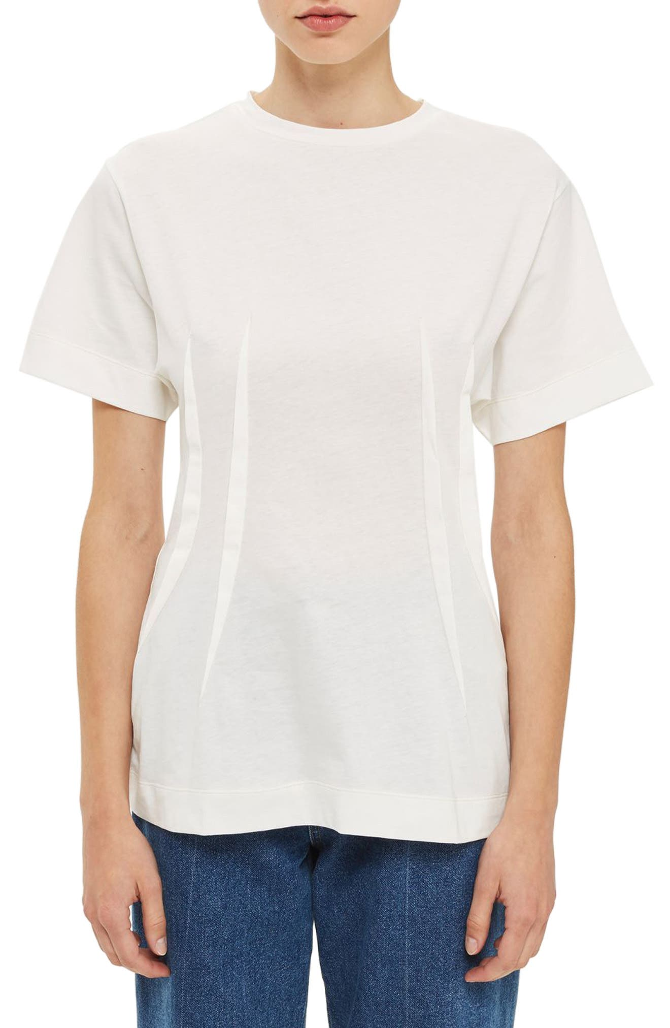 Alternate Image 1 Selected - Topshop Boutique Pintuck Tee