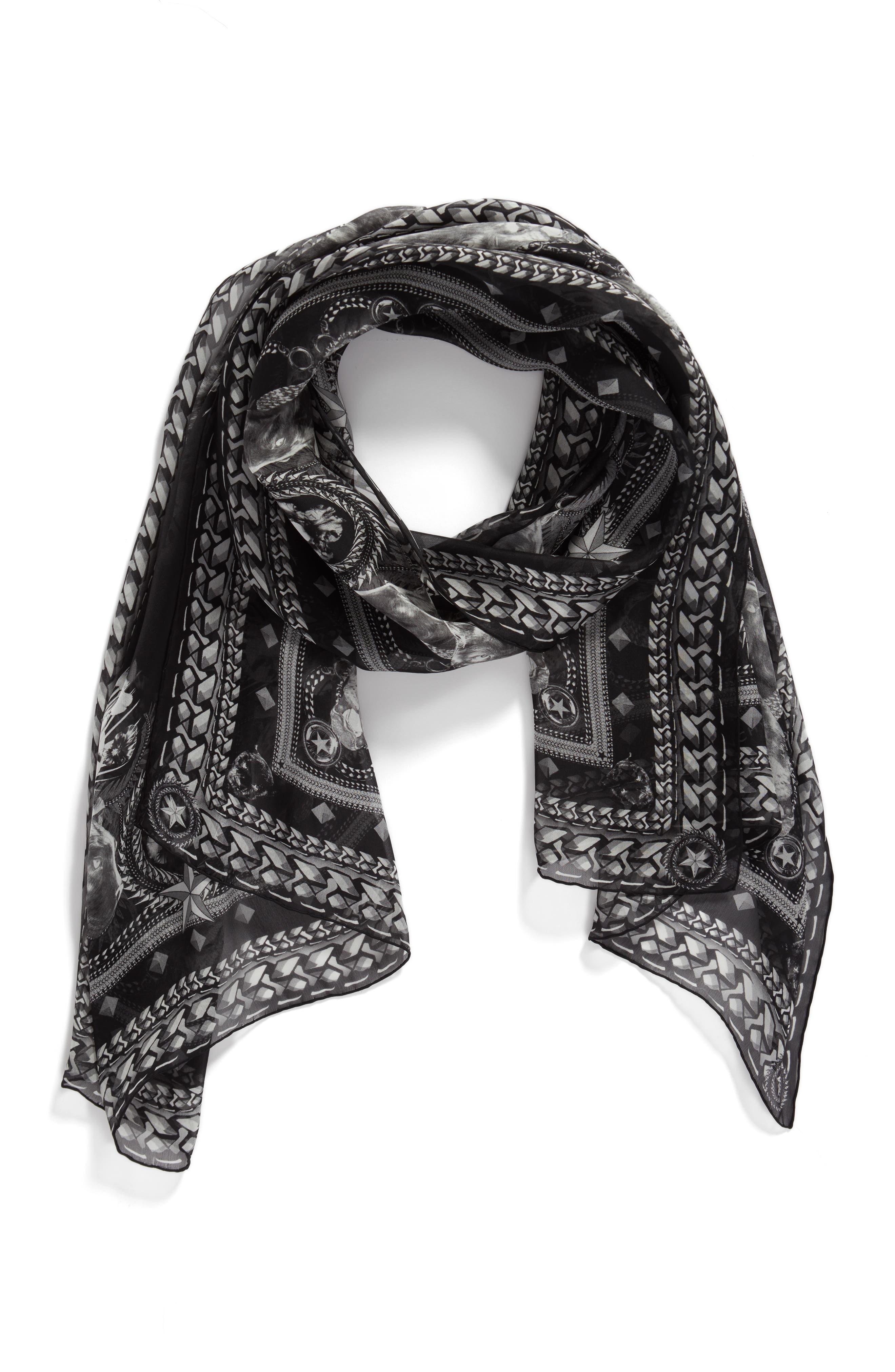 Alternate Image 3  - Givenchy Panther Silk Chiffon Scarf