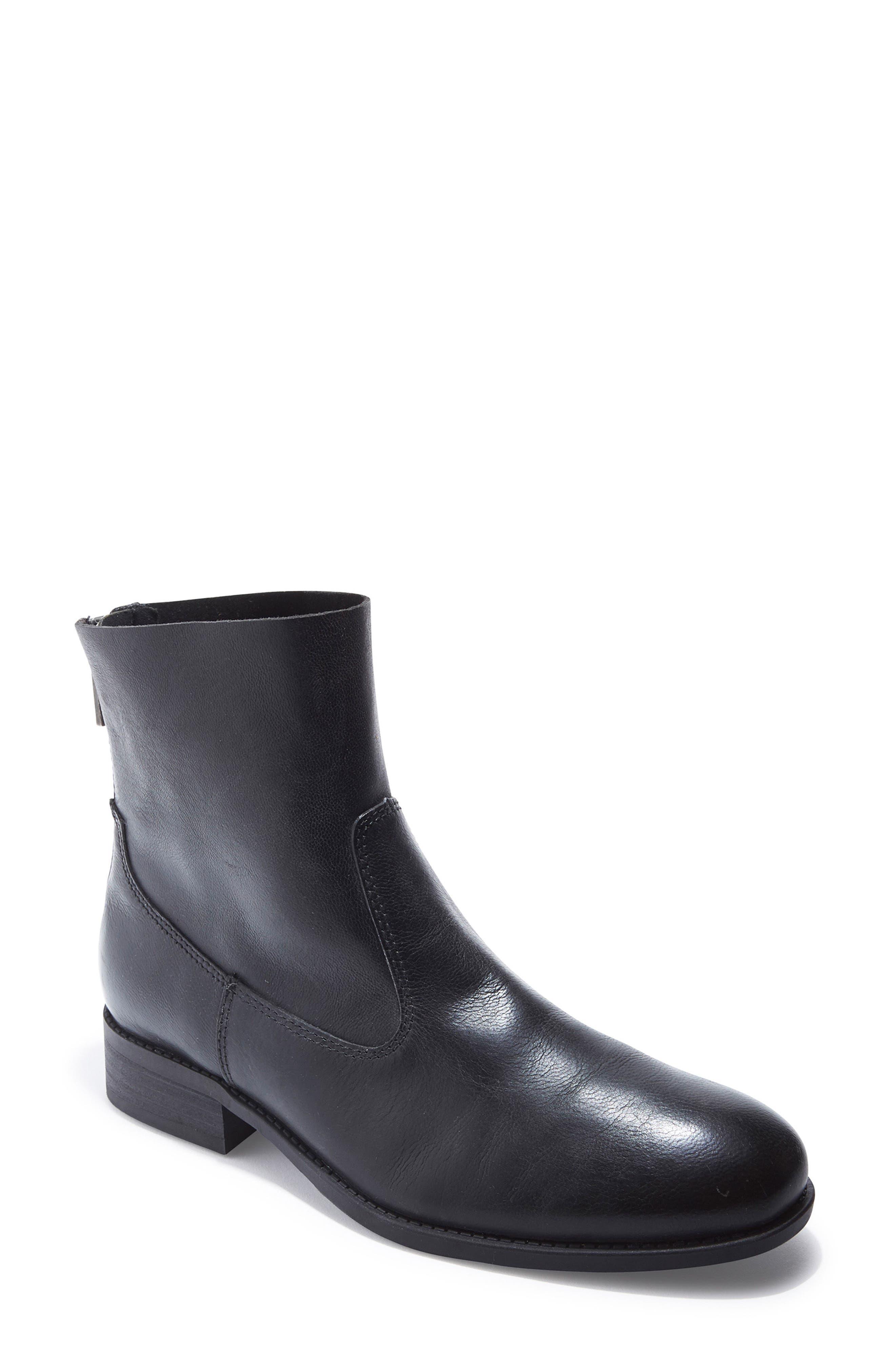 Logan Bootie,                         Main,                         color, Black Leather