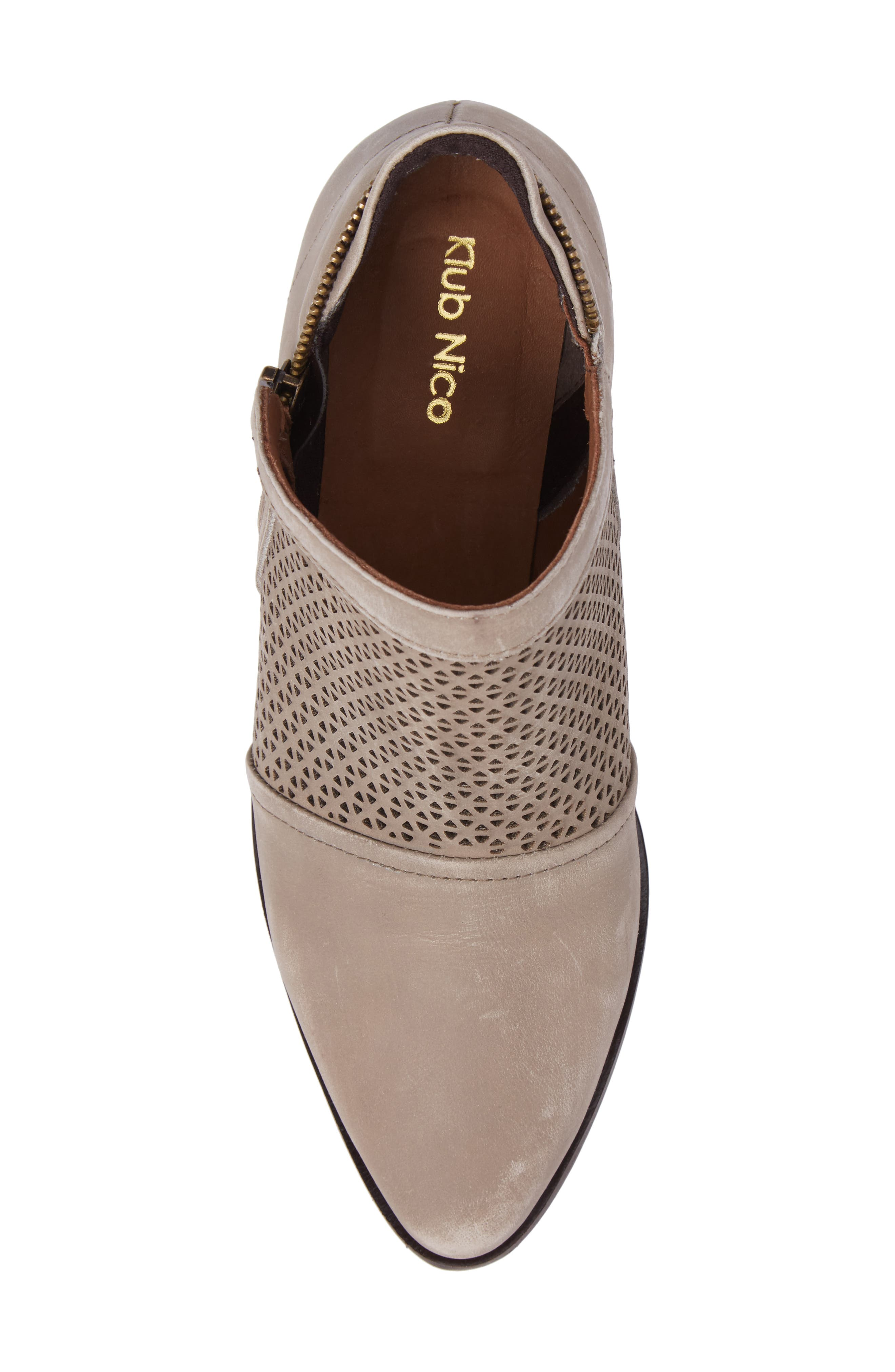Zayna Bootie,                             Alternate thumbnail 5, color,                             Taupe Suede
