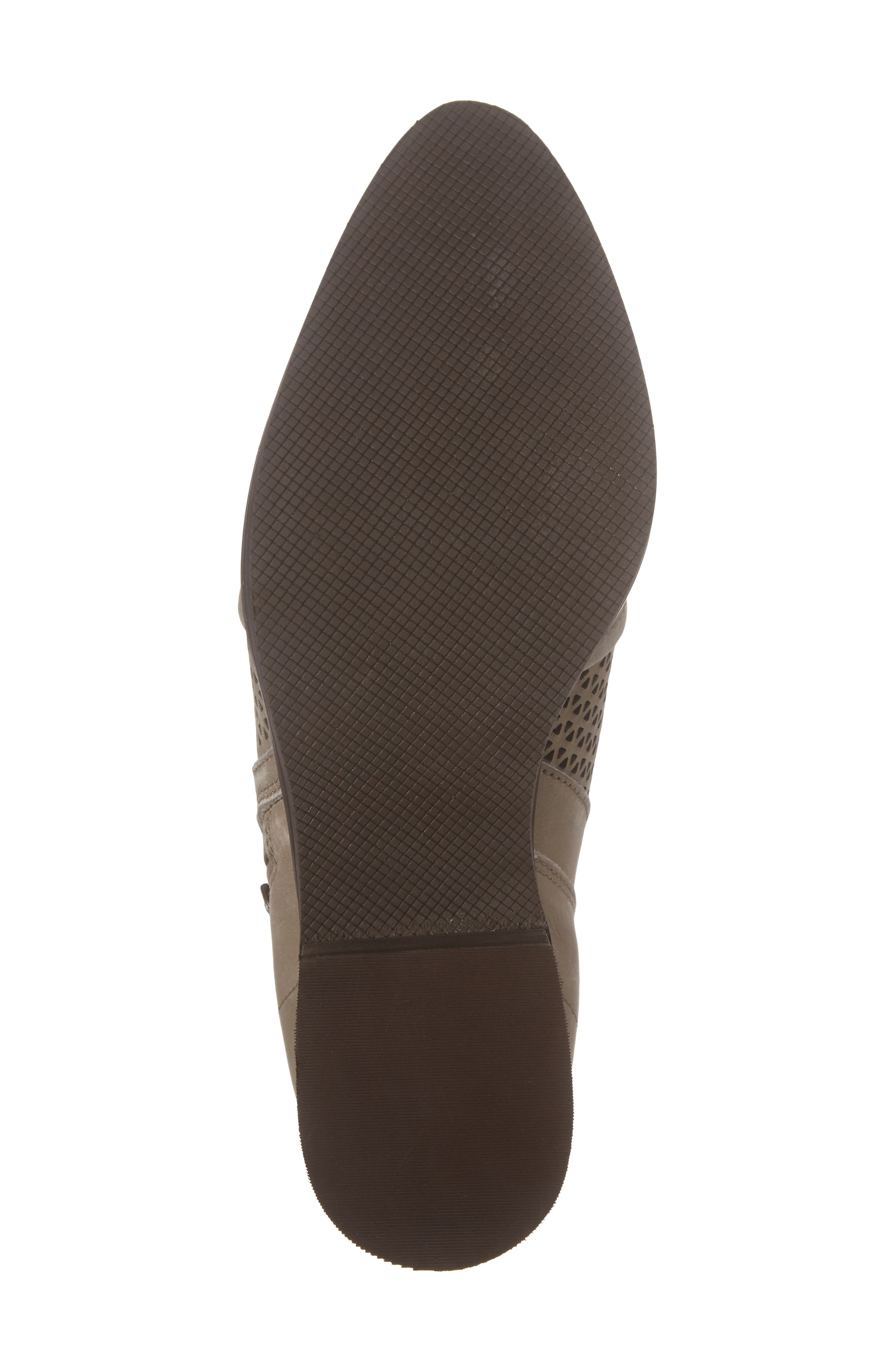 Zayna Bootie,                             Alternate thumbnail 6, color,                             Taupe Suede