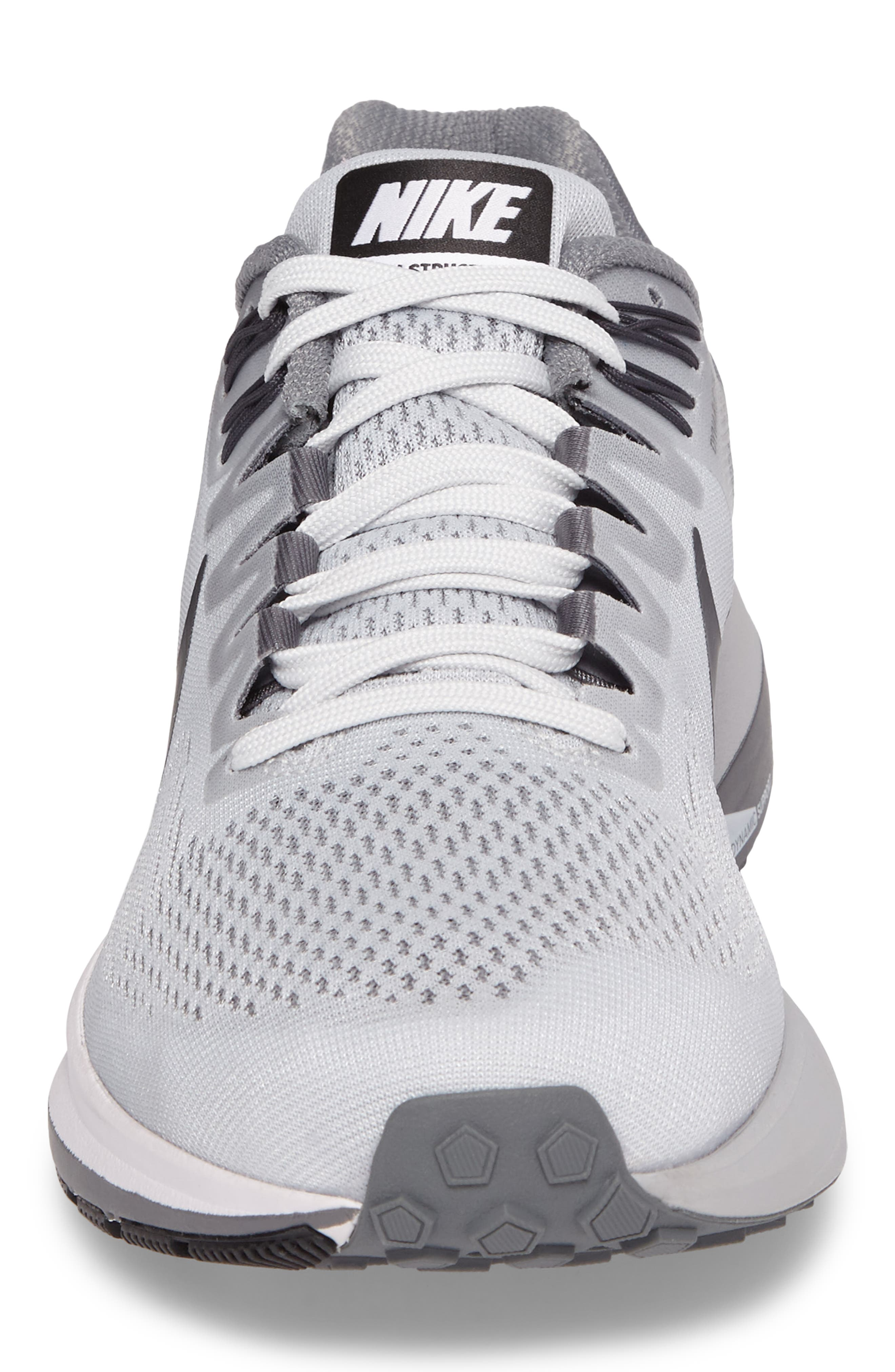 Air Zoom Structure 21 Running Shoe,                             Alternate thumbnail 4, color,                             Platinum/Anthracite/Cool Grey