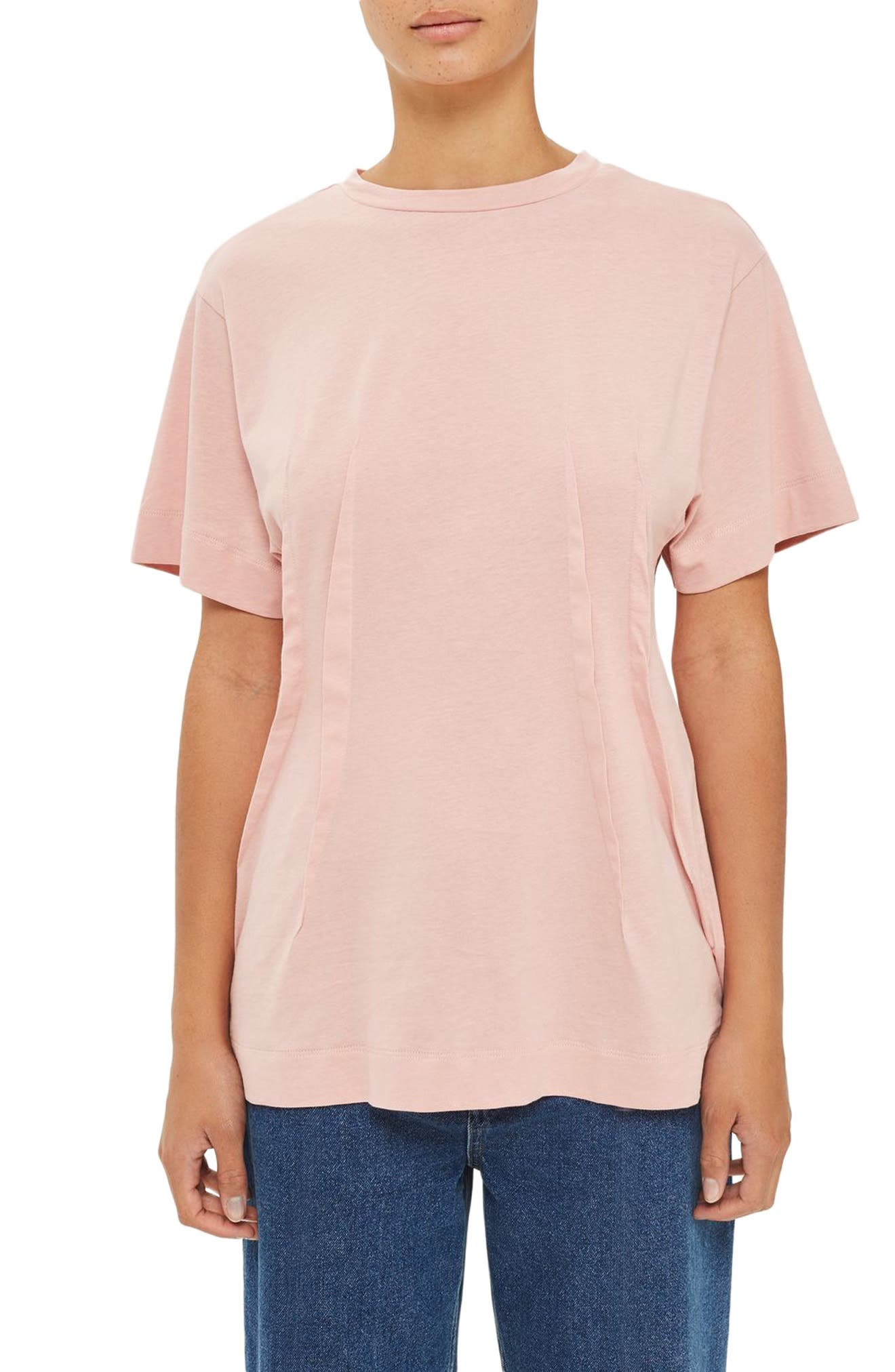 Topshop Boutique Pintuck Tee