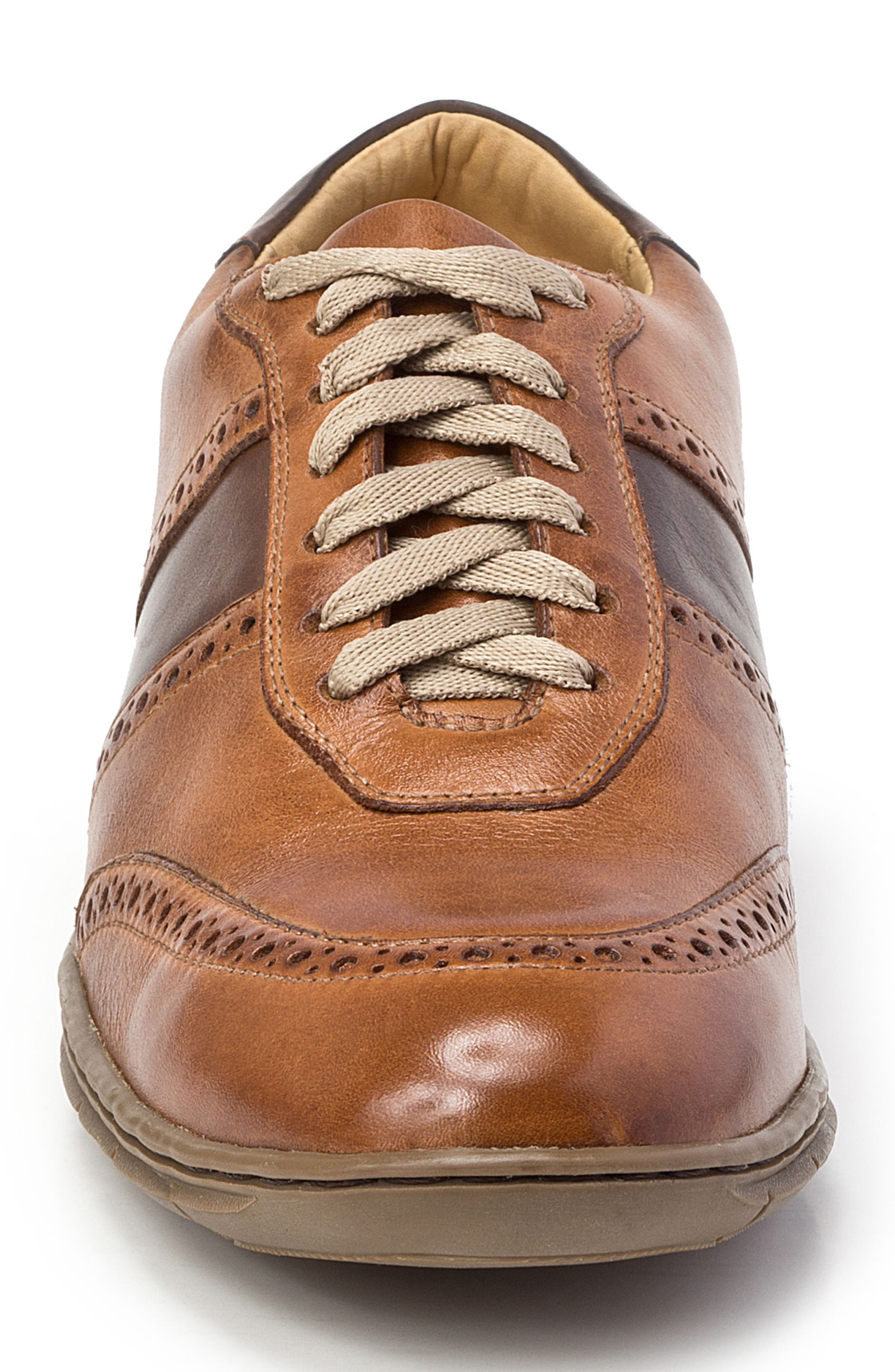 Norris Sneaker,                             Alternate thumbnail 4, color,                             Tan Leather