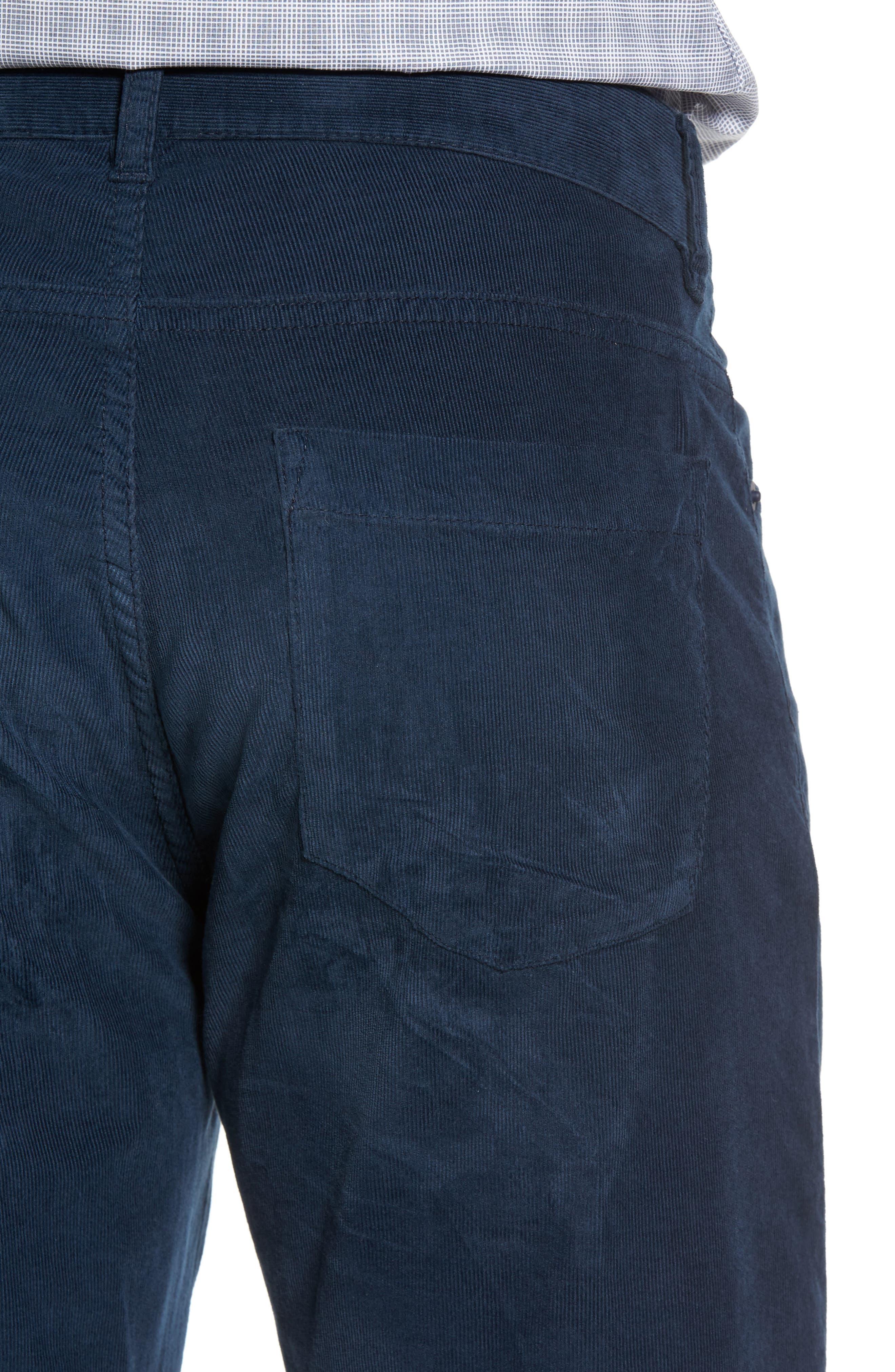 Redonda Stretch Corduroy Trousers,                             Alternate thumbnail 4, color,                             Midnight