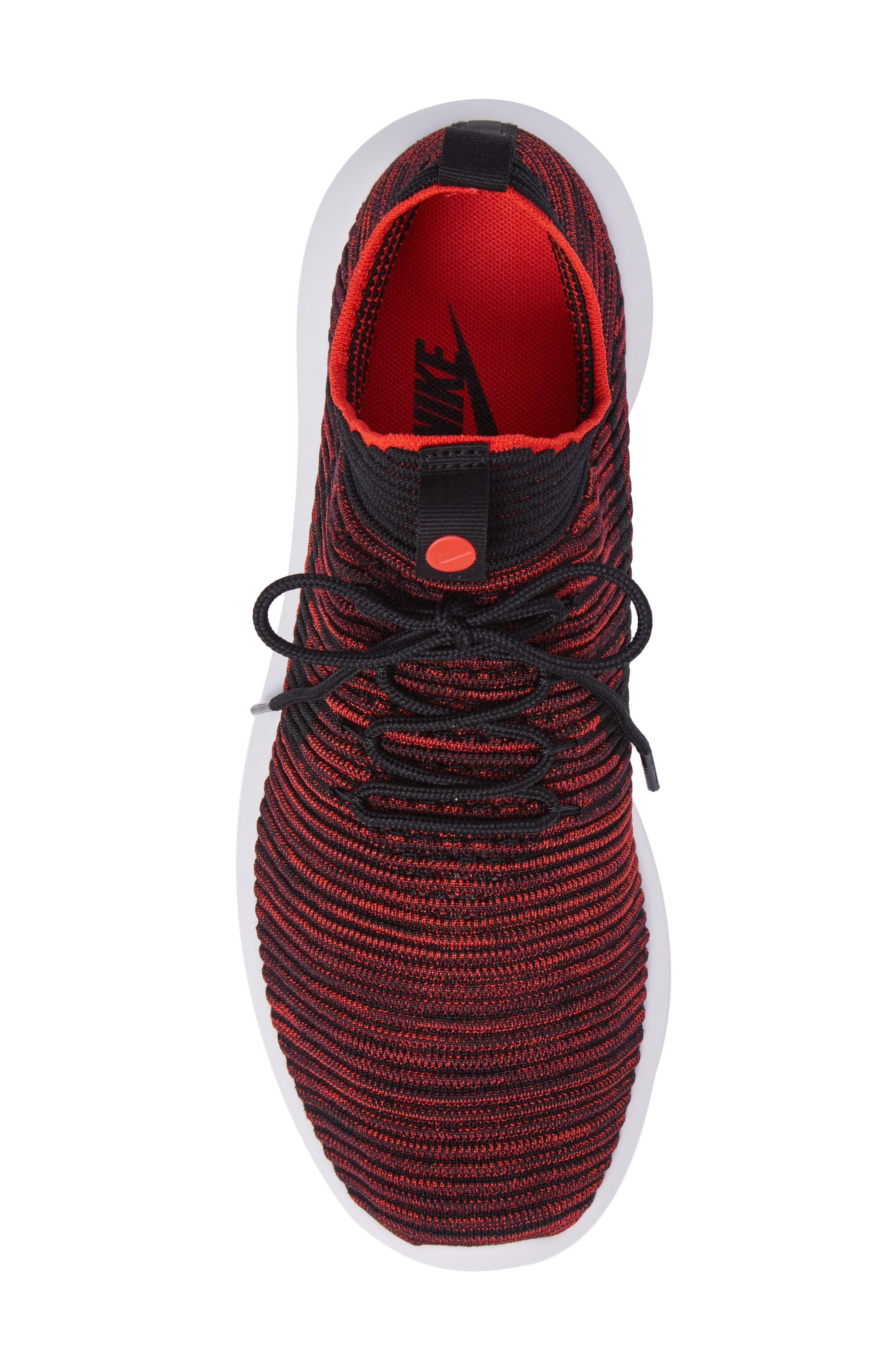 Roshe Two Flyknit V2 Sneaker,                             Alternate thumbnail 6, color,                             Chile Red/ Black