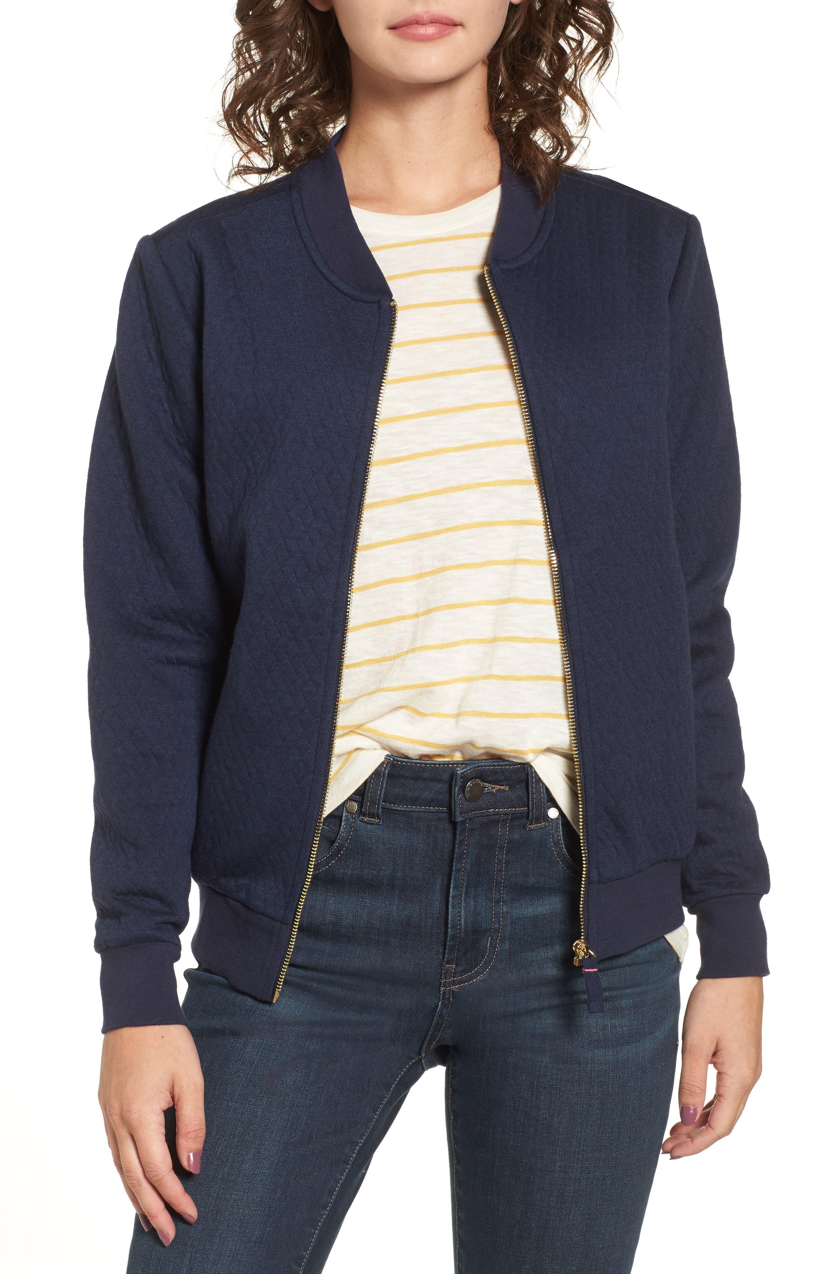Main Image - Joules Millie Bomber Sweatshirt Jacket