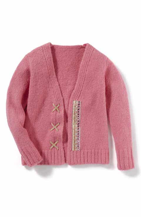 Girls' Pink Sweaters: Cardigan, Knit & Crewneck | Nordstrom