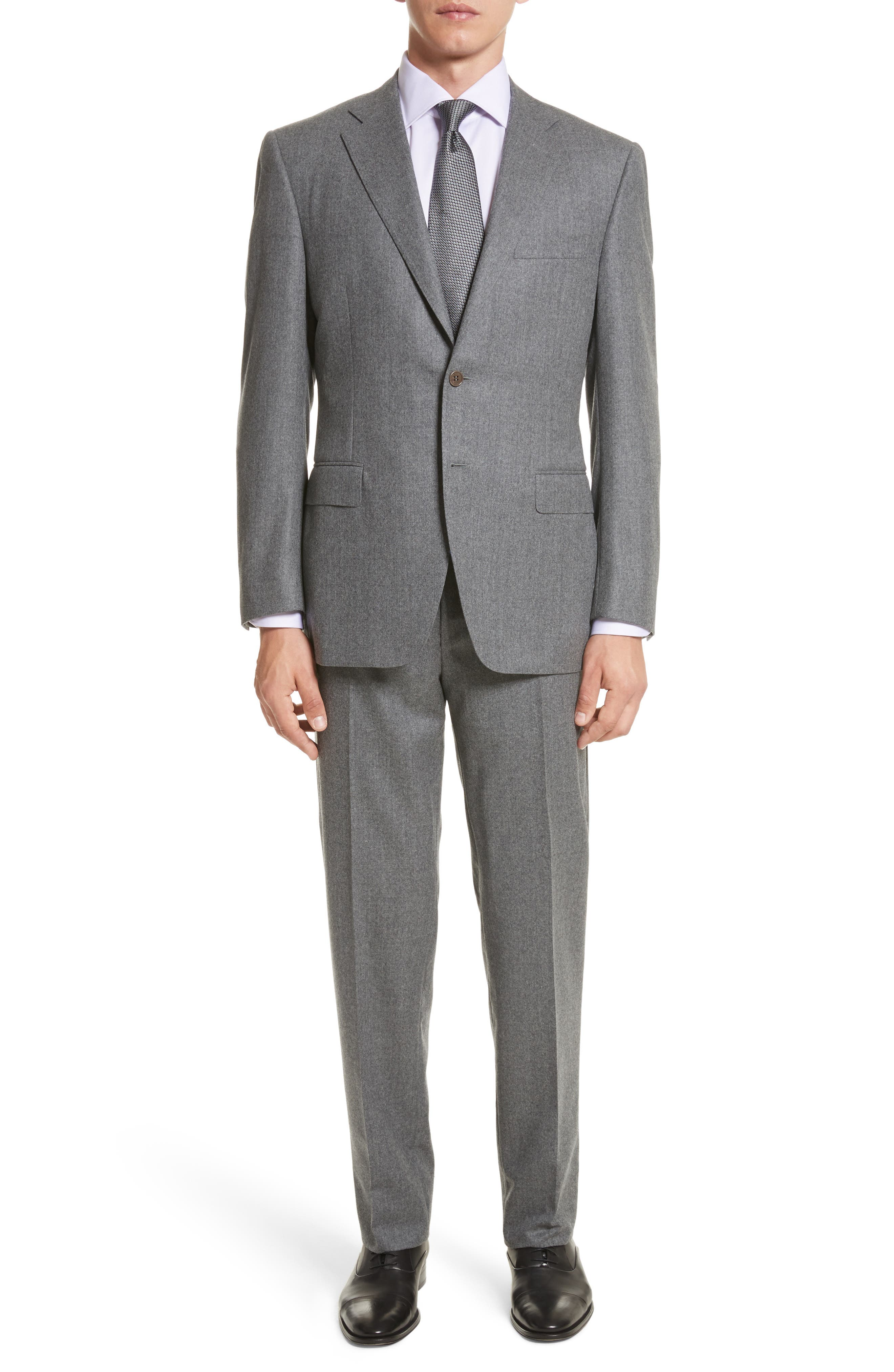 Alternate Image 1 Selected - Canali Classic Fit Solid Wool Suit