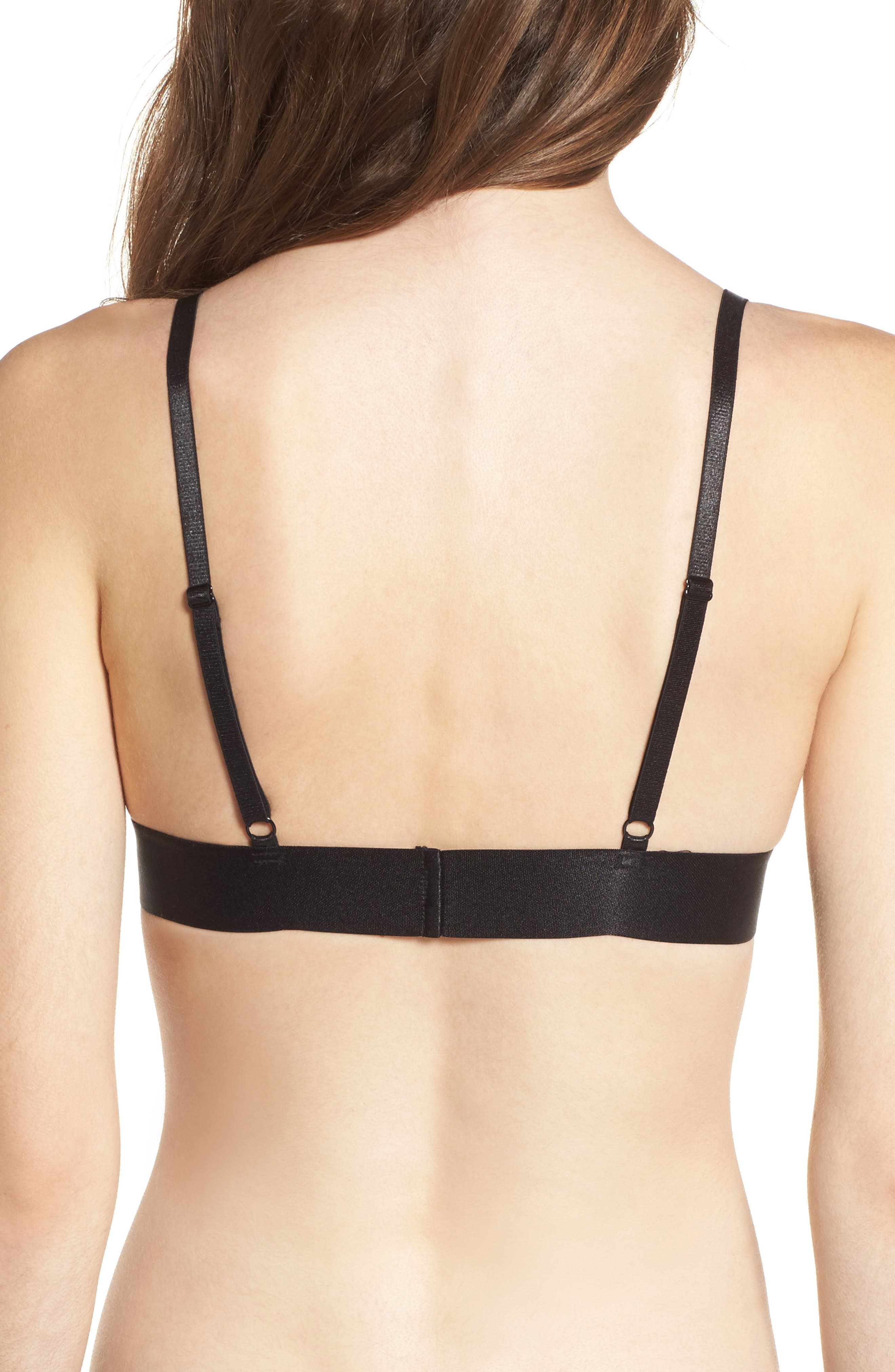 De la Rosa Bralette,                             Alternate thumbnail 3, color,                             Black