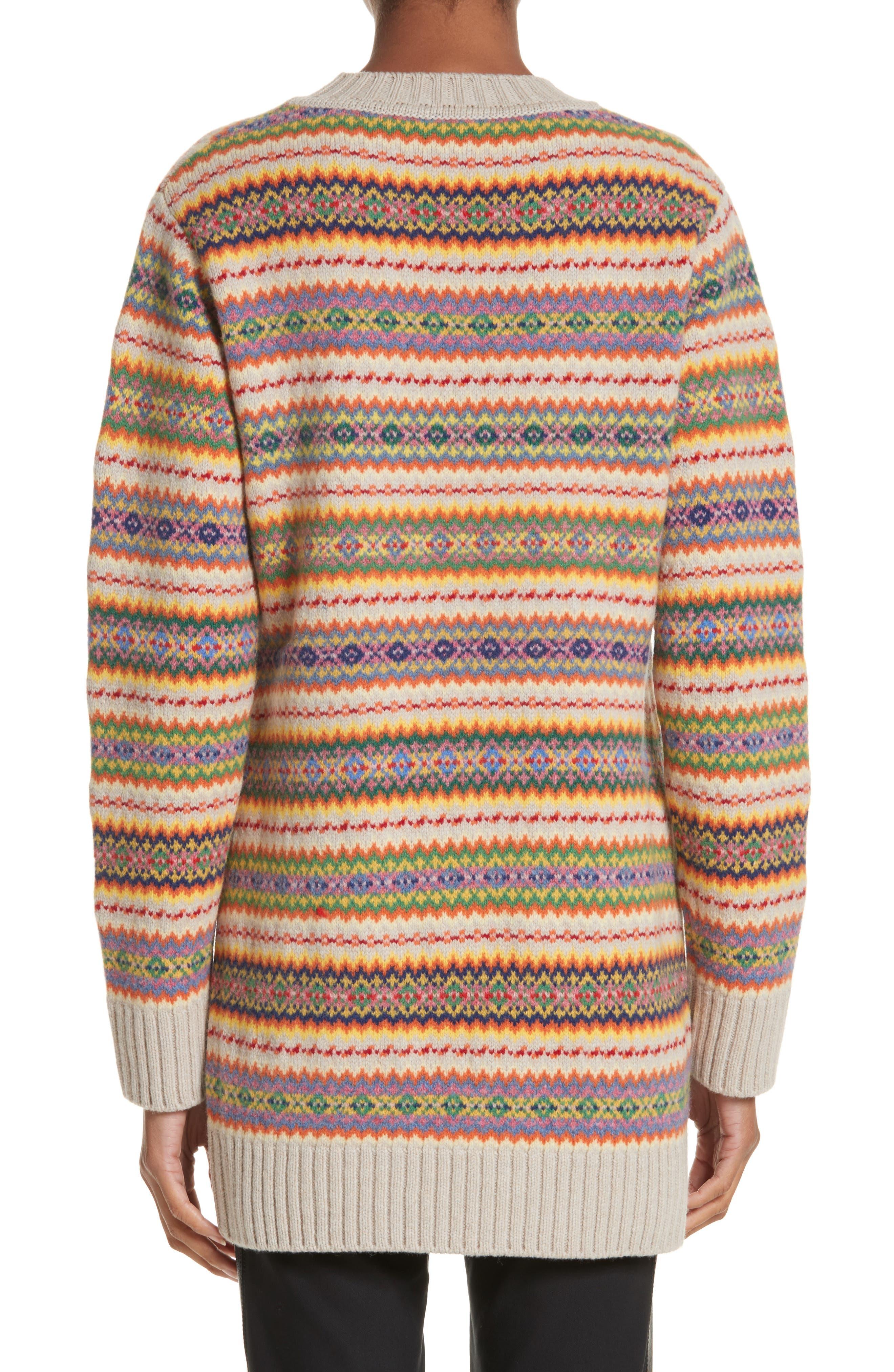Shetland Wool Fair Isle Sweater,                             Alternate thumbnail 2, color,                             Multicolor