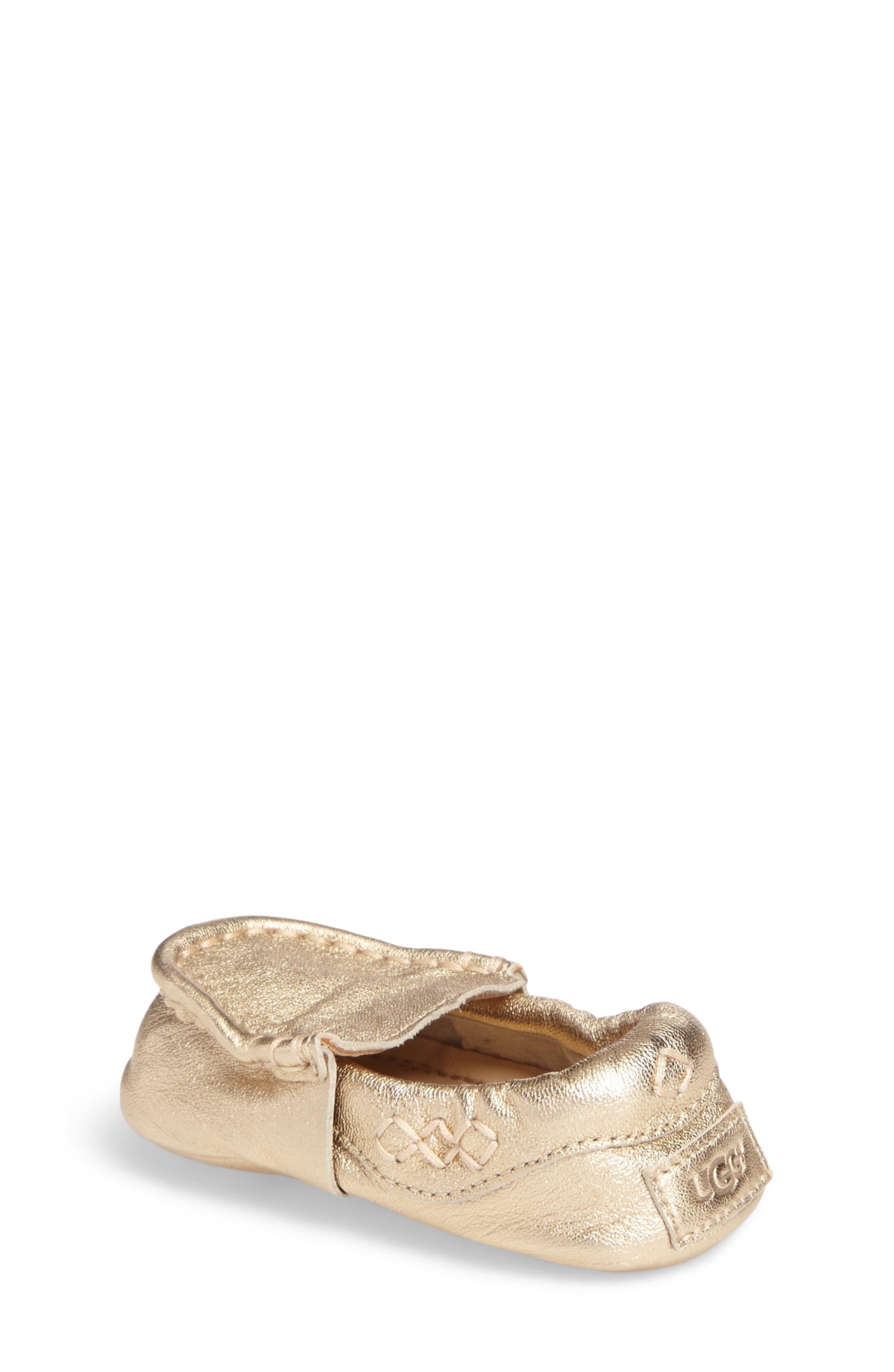 Sivia Metallic Loafer,                             Alternate thumbnail 2, color,                             Gold