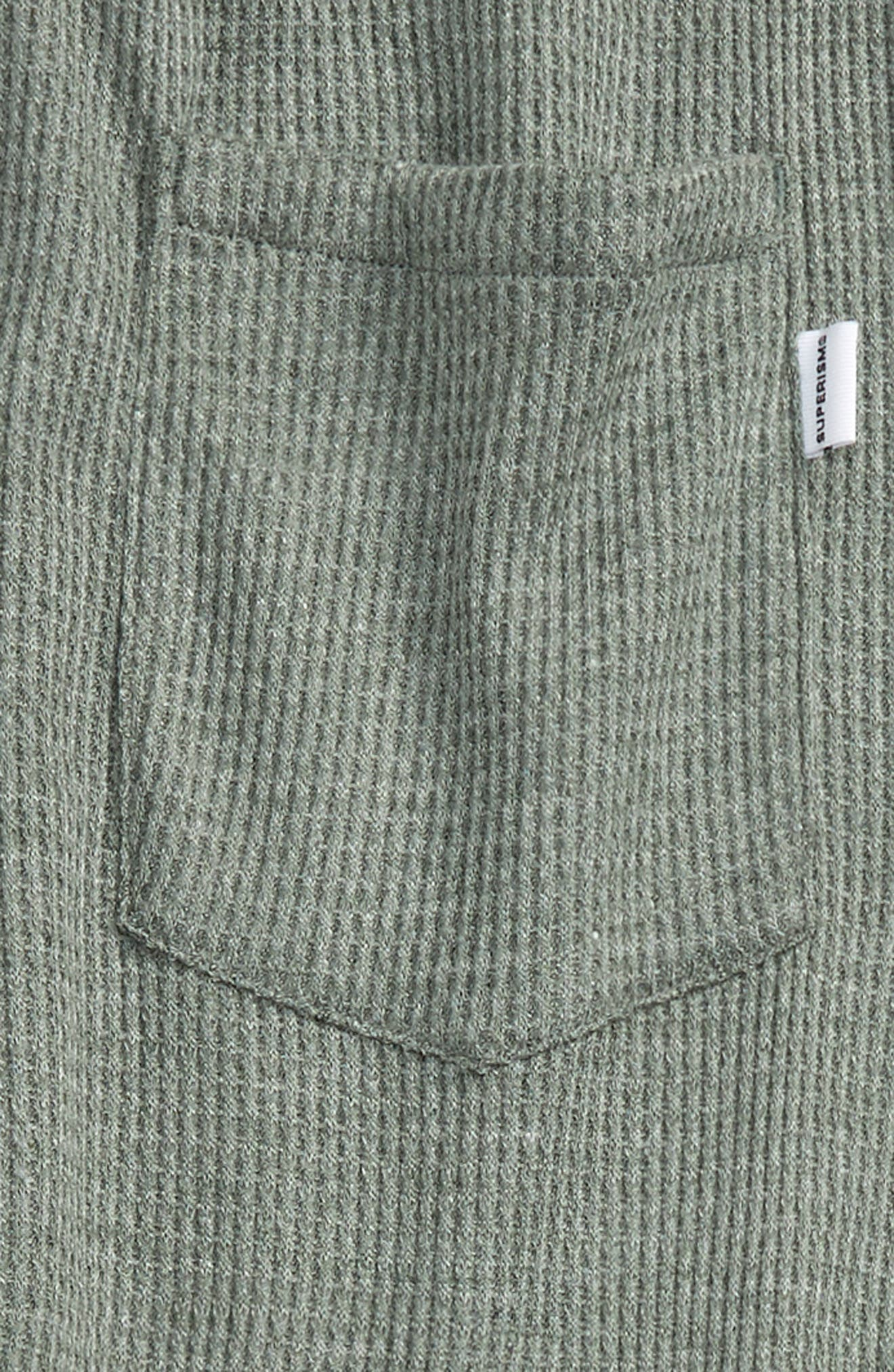 Jude Thermal Knit Jogger Pants,                             Alternate thumbnail 3, color,                             Olive Heather