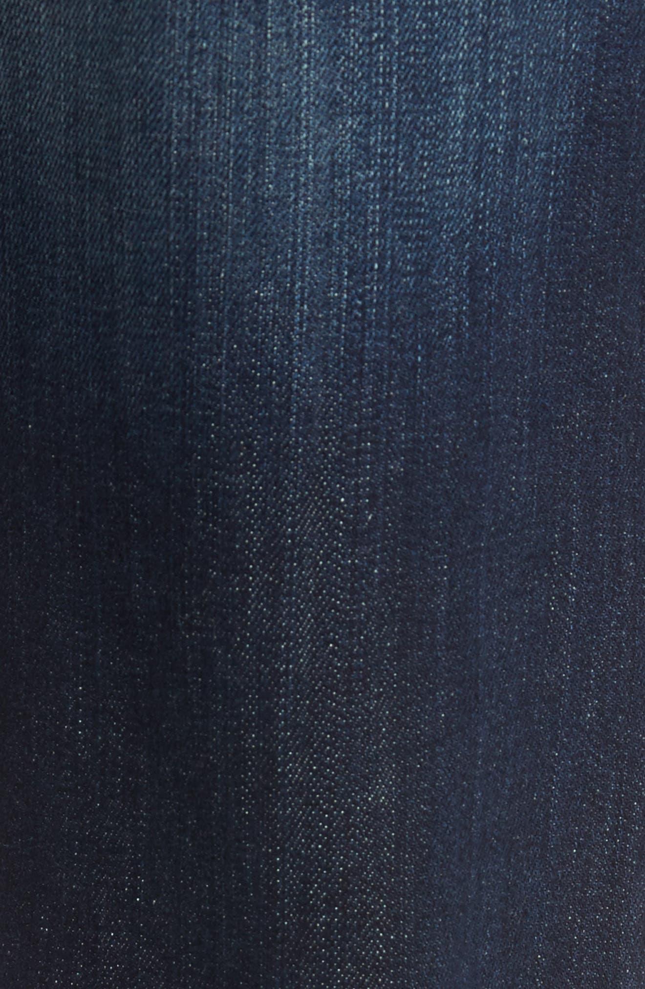 Alternate Image 5  - Fidelity Denim Jimmy Slim Straight Leg Jeans (Militia Blue)