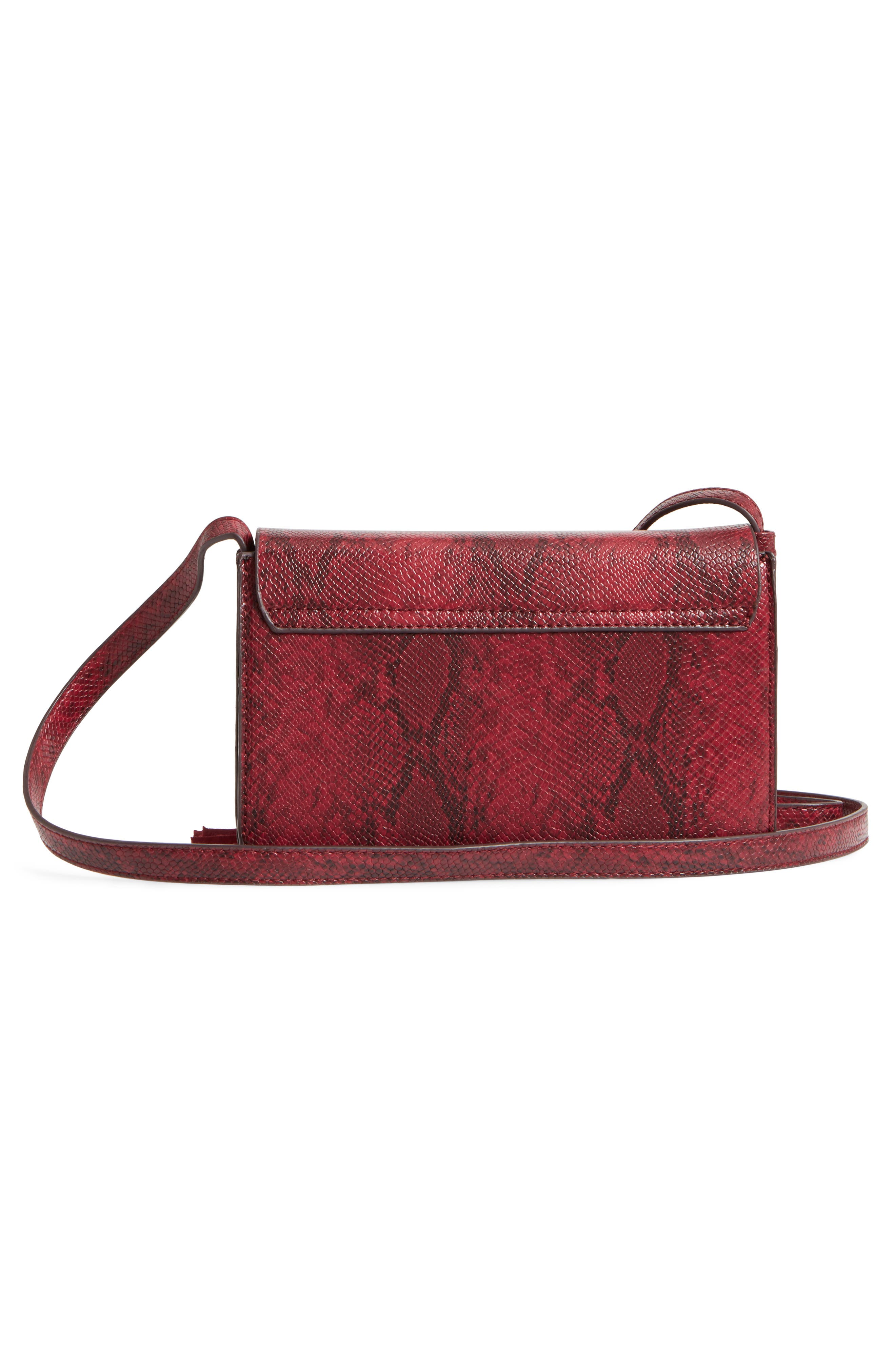 Alternate Image 3  - Street Level Snake Embossed Faux Leather Crossbody Bag