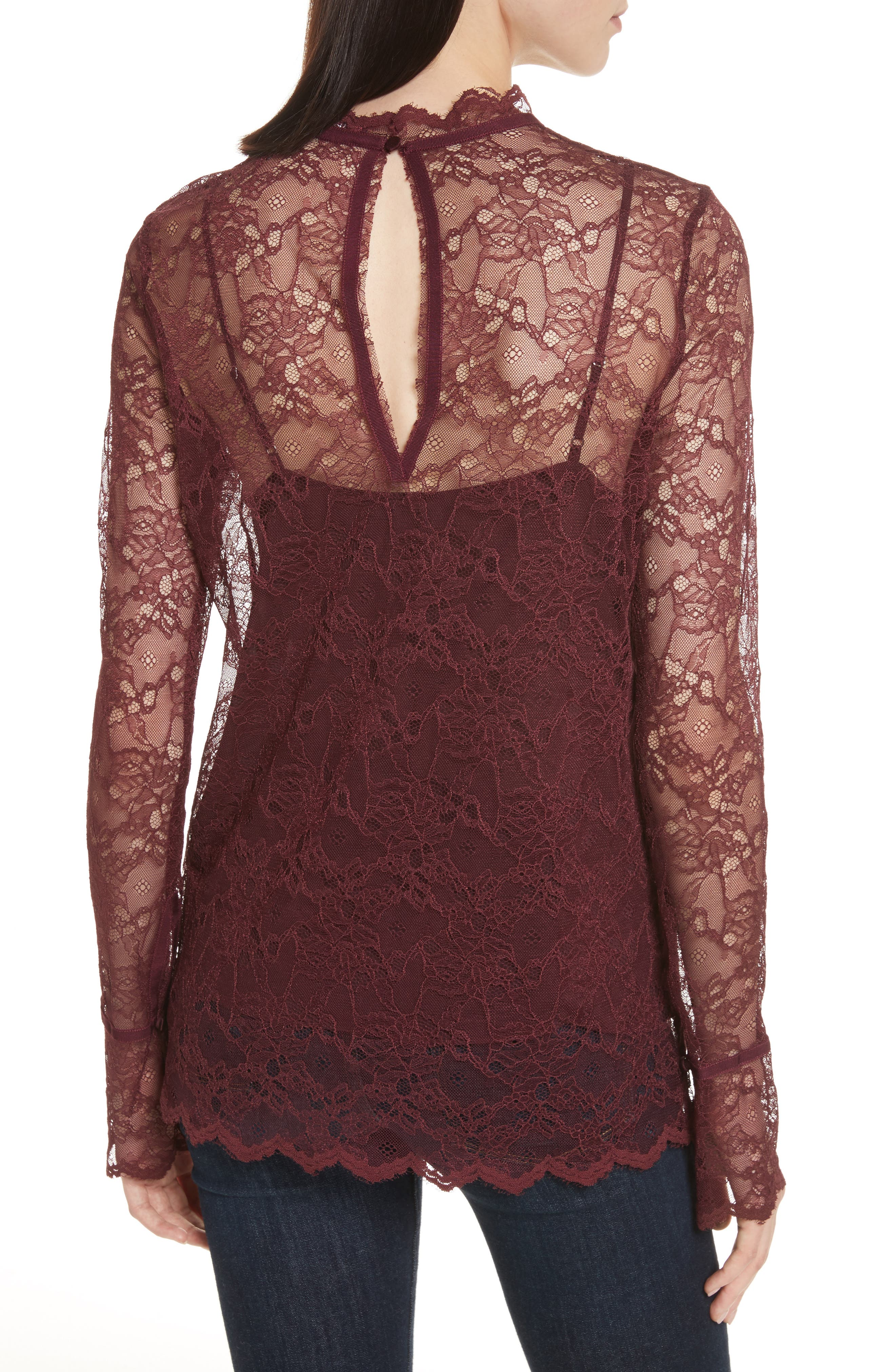 Alternate Image 2  - Theory Lace Top with Tank