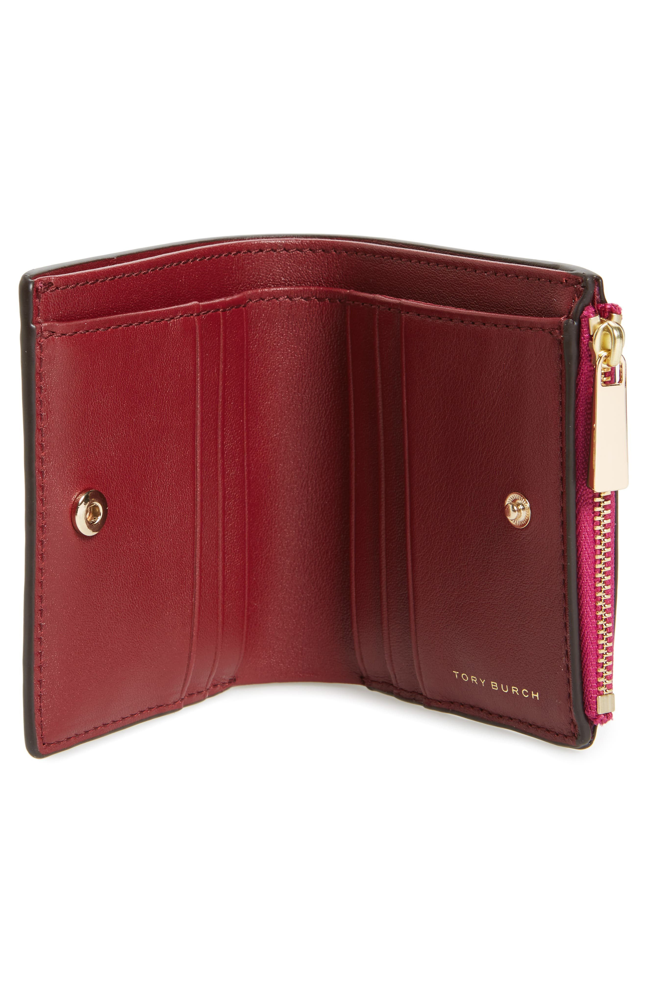 Mini Robinson Wallet Patent Leather Bifold Wallet,                             Alternate thumbnail 3, color,                             Party Fuchsia