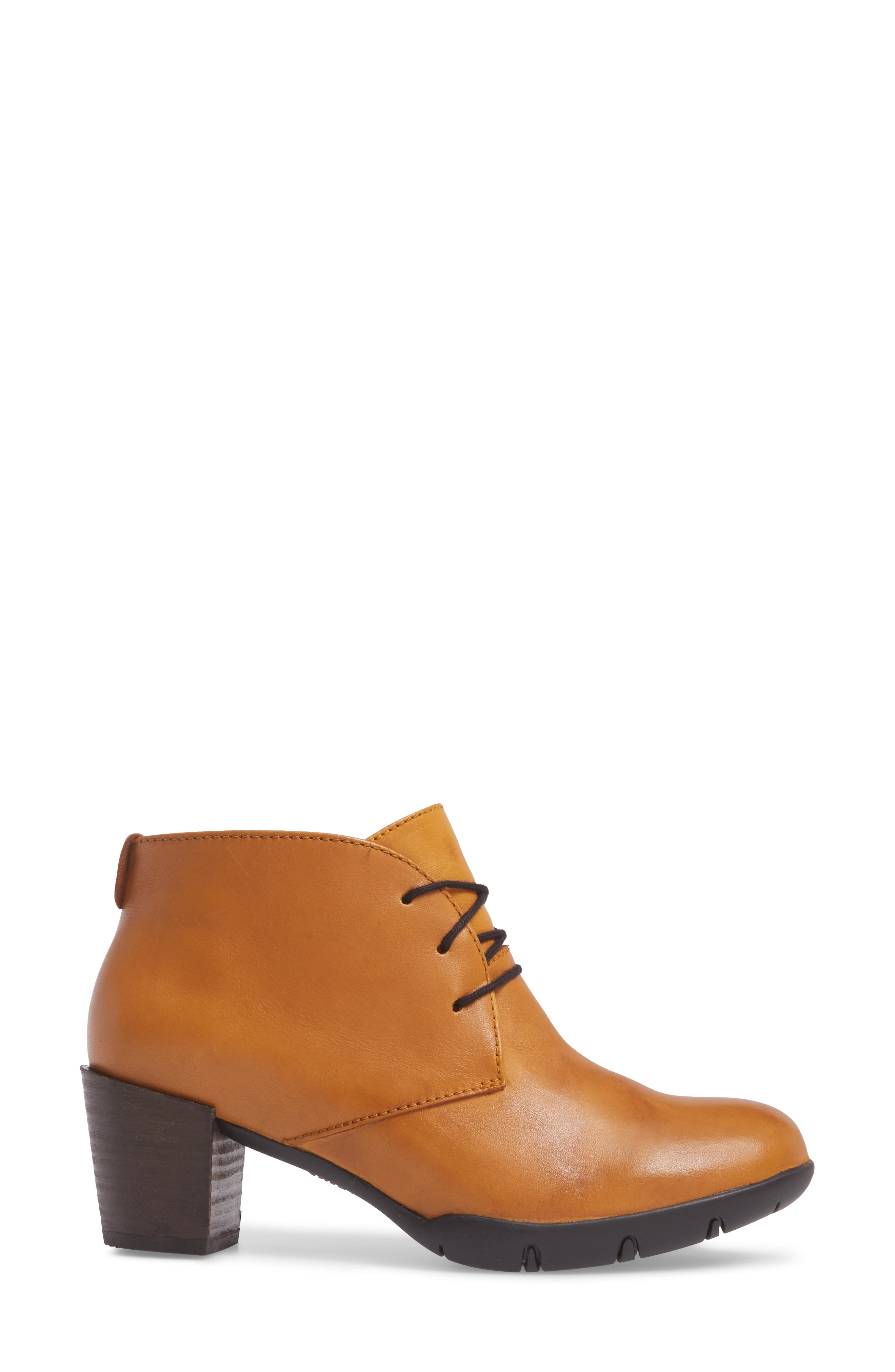 Bighorn Bootie,                             Alternate thumbnail 3, color,                             Curry Leather