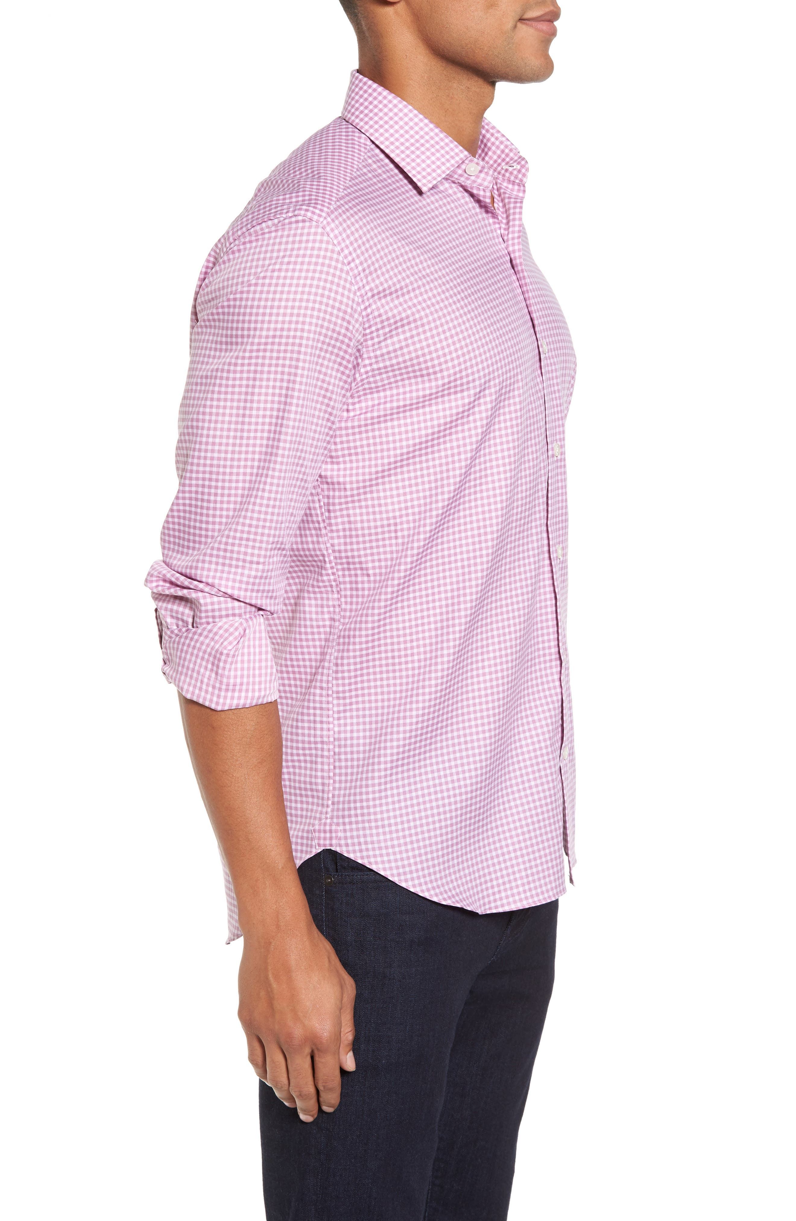 Alternate Image 3  - Culturata Slim Fit Check Twill Sport Shirt