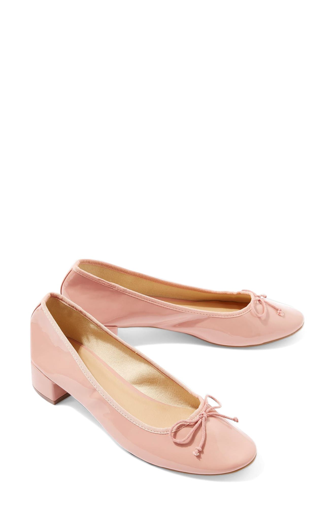 Topshop Glory Heeled Ballerina Slippers