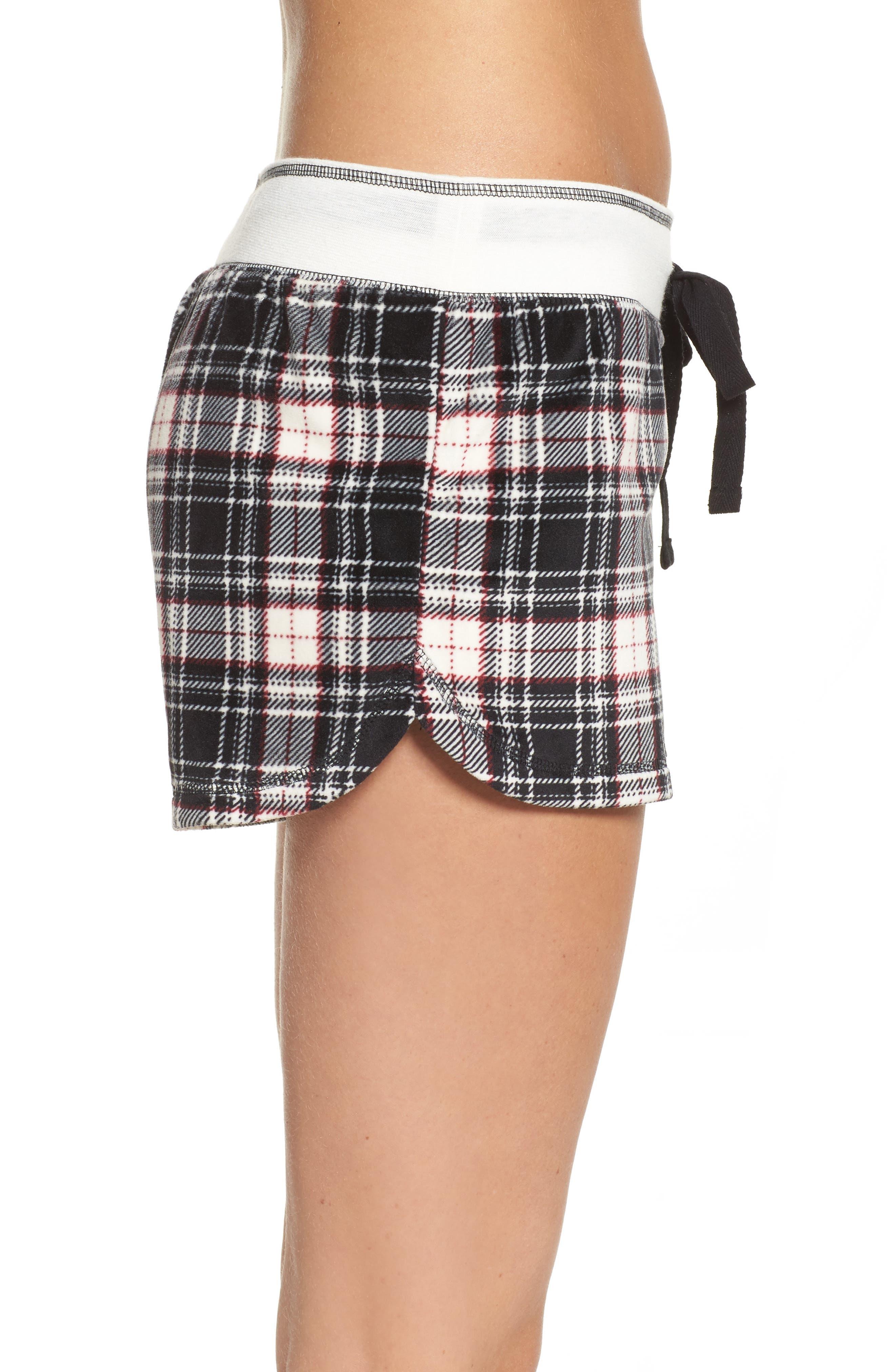 Velour Shorts,                             Alternate thumbnail 3, color,                             Black