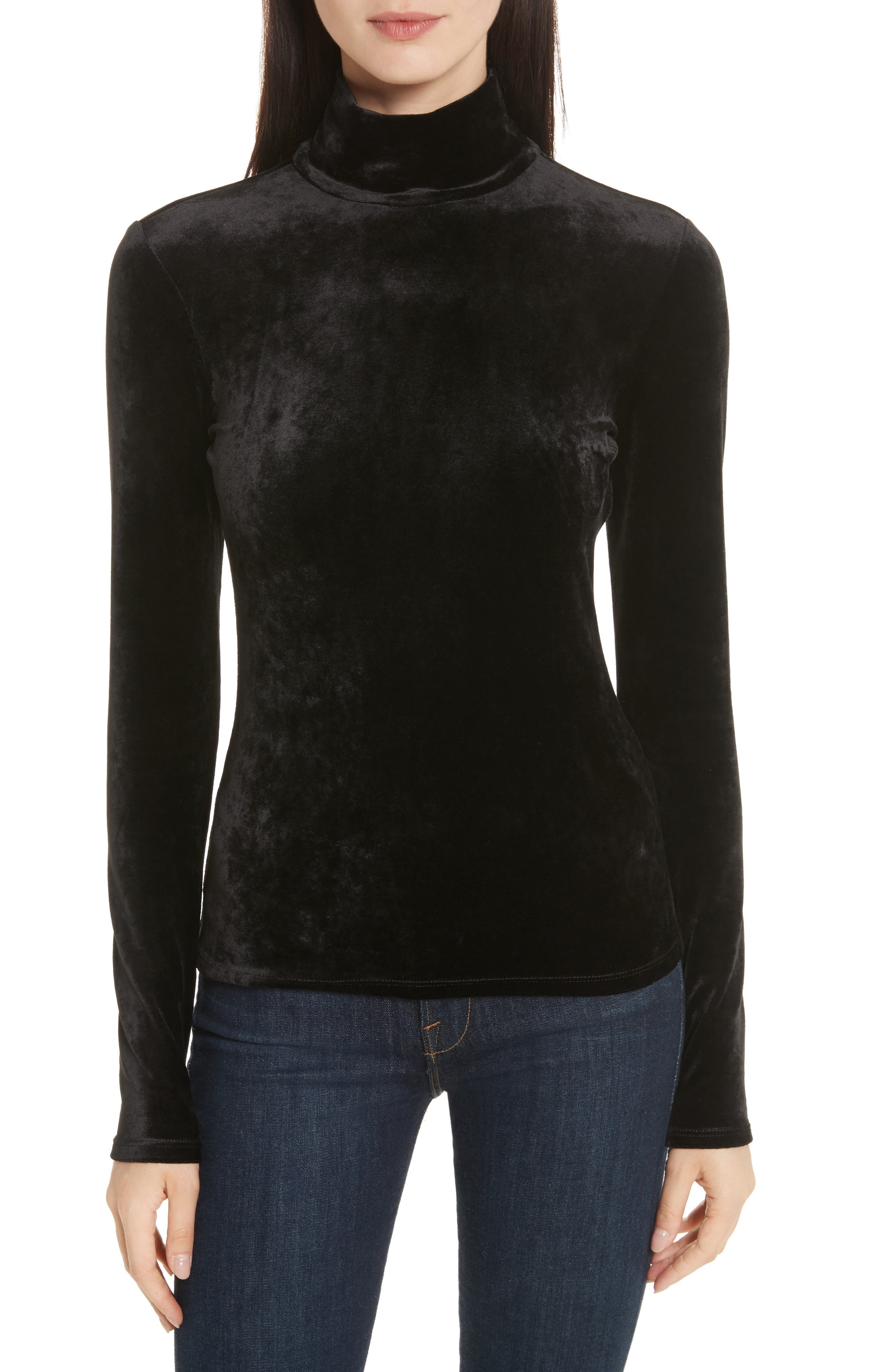 Alternate Image 1 Selected - Theory Velvet Turtleneck Top