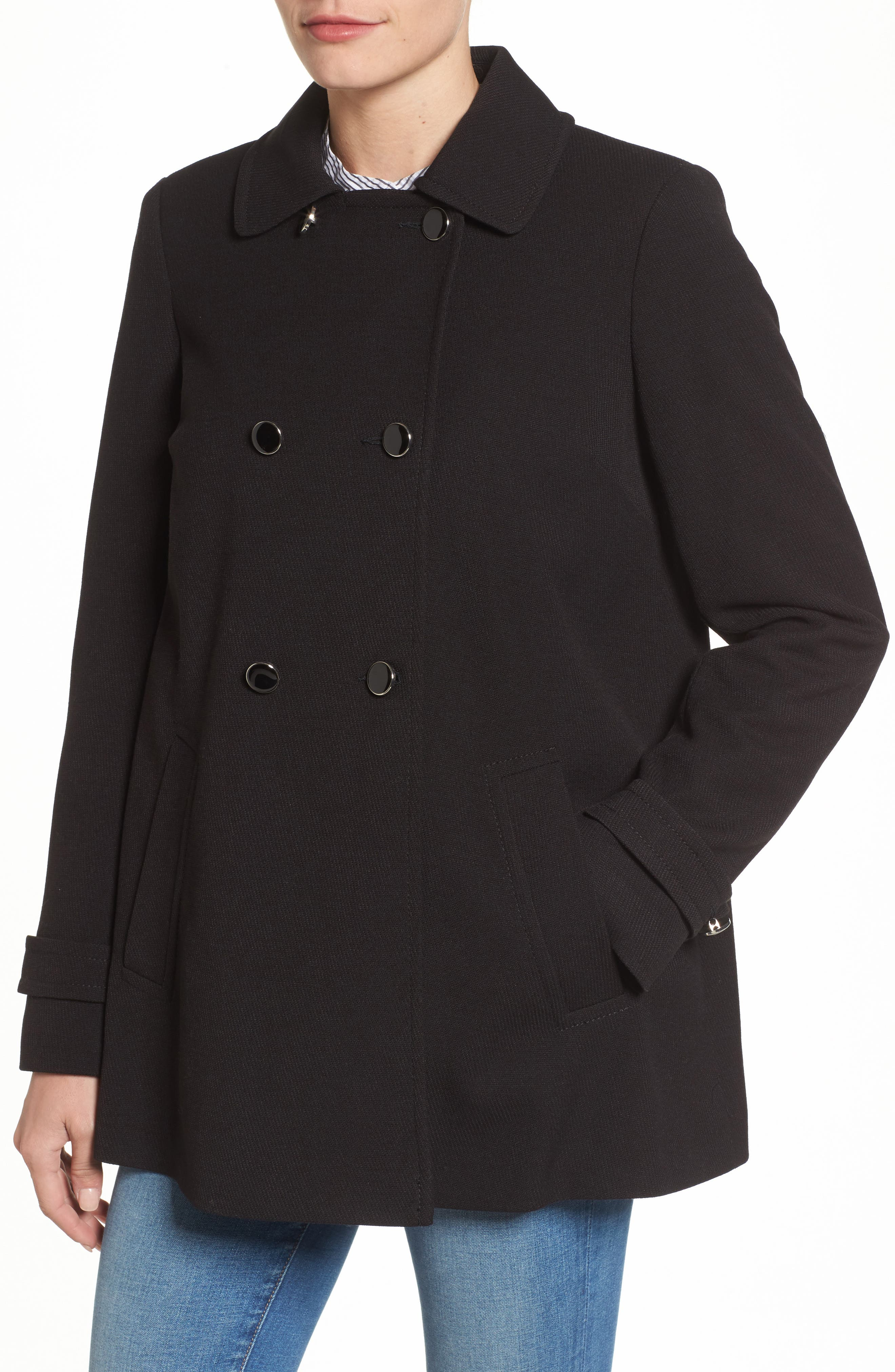 Alternate Image 4  - Dorothy Perkins Double Breasted Swing Coat