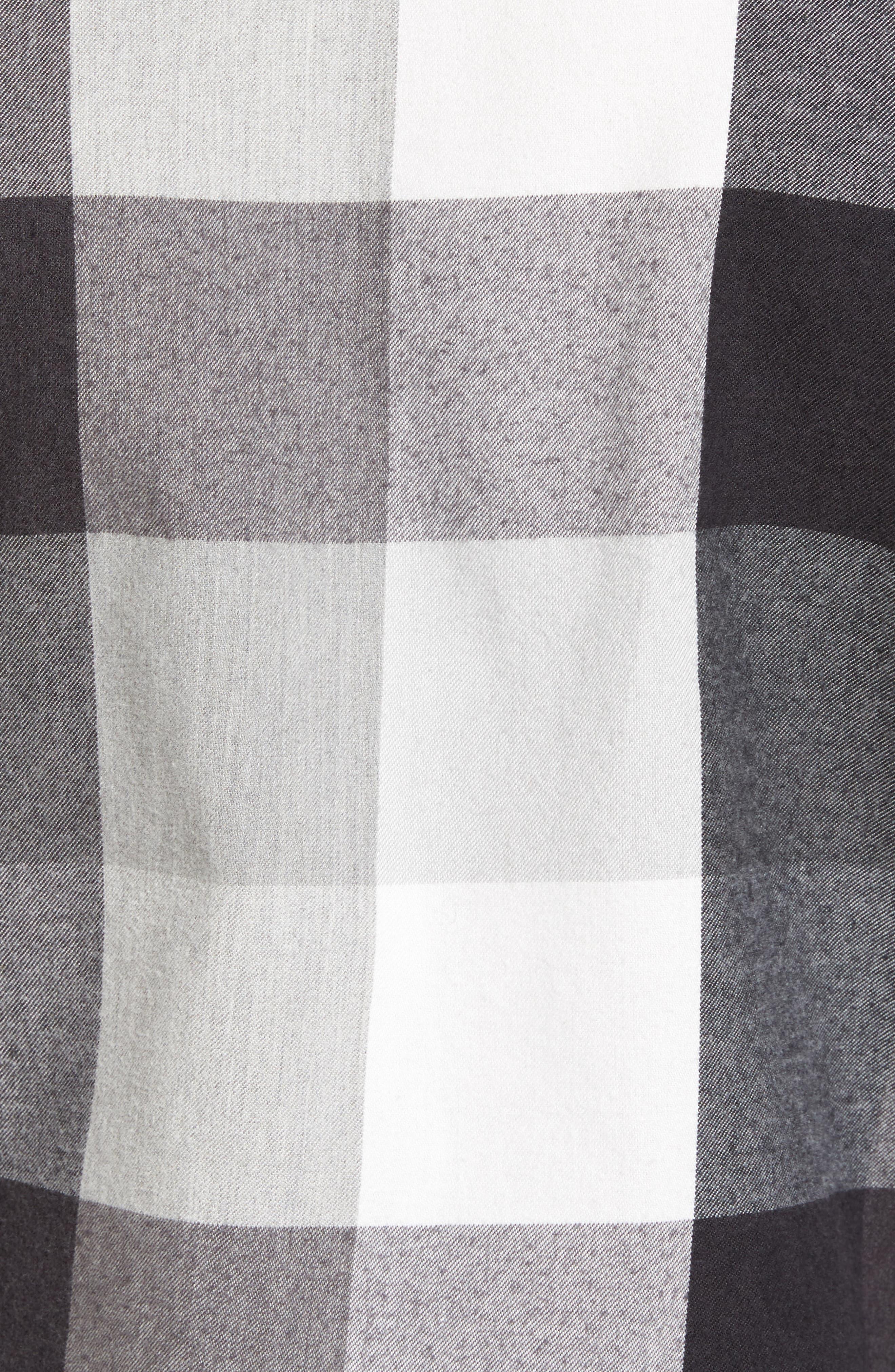 Trim Fit Workwear Check Flannel Shirt,                             Alternate thumbnail 5, color,                             Grey Paloma Buffalo Plaid