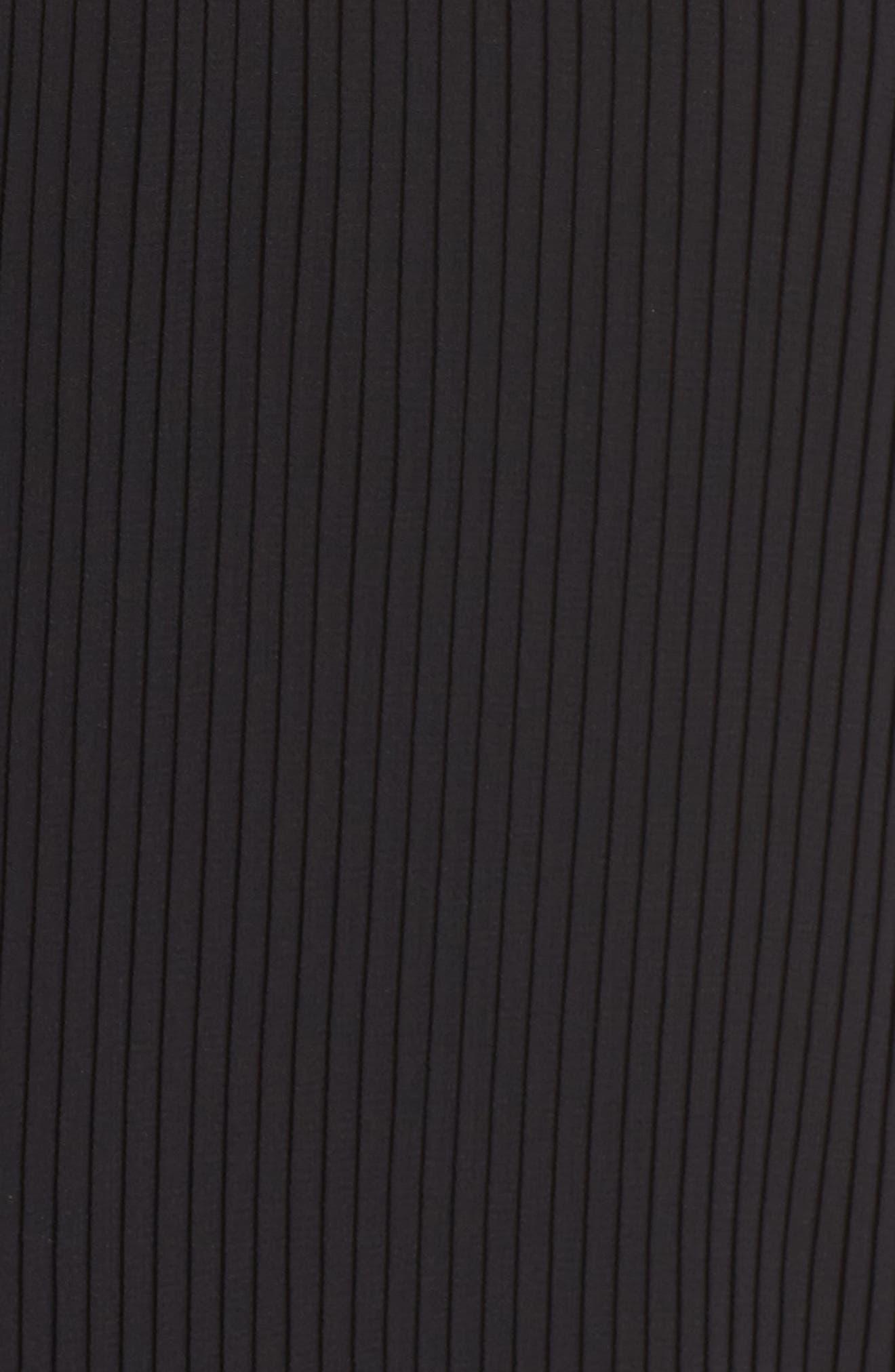 Ruffle Pleated Camisole,                             Alternate thumbnail 5, color,                             Black