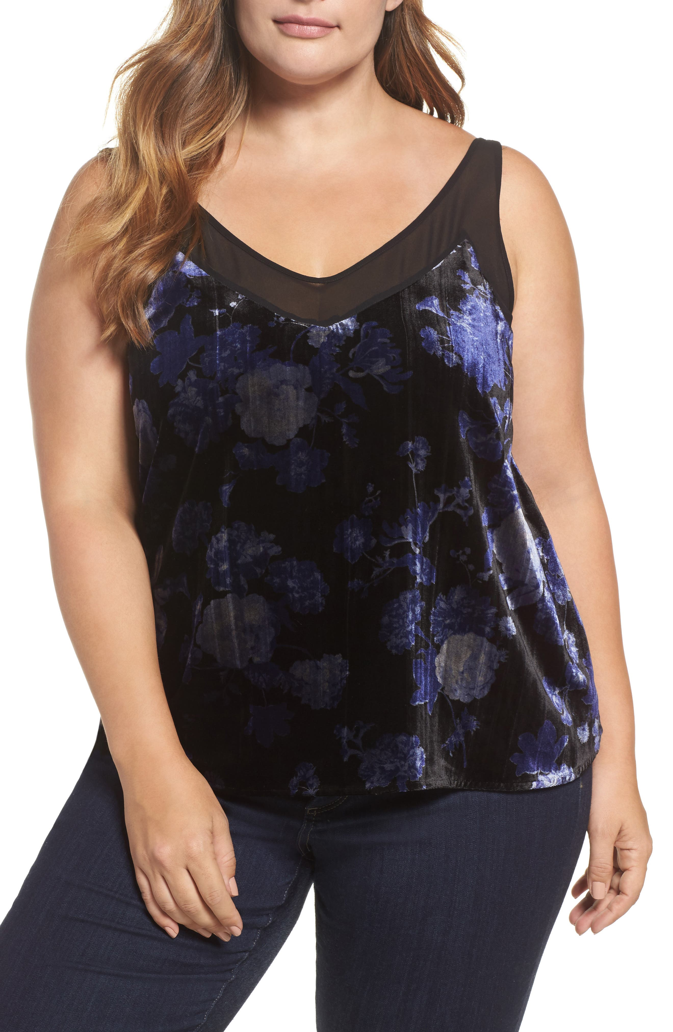 Lucky Brand Floral Velvet Cami (Plus Size)