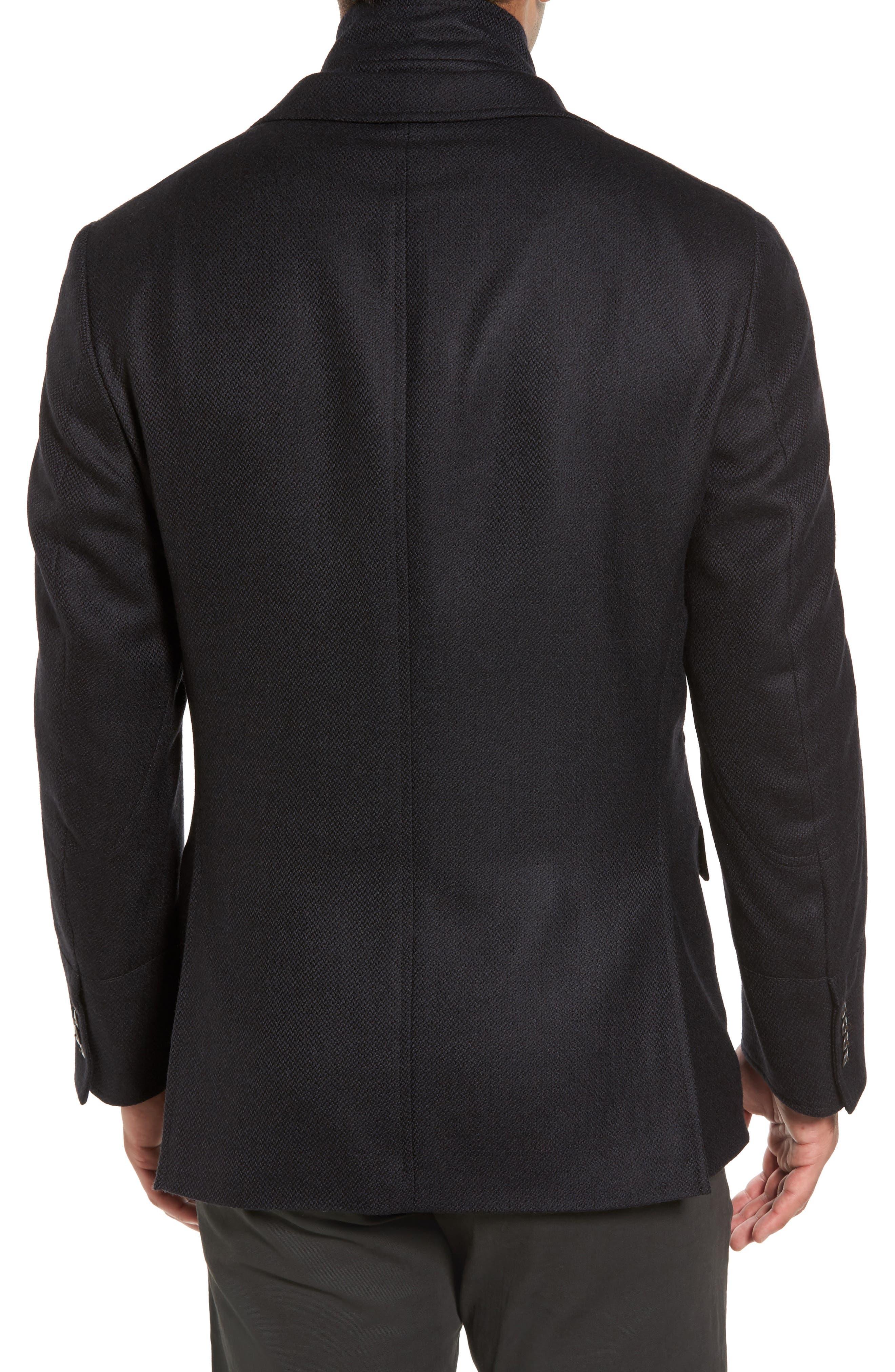 Ritchie Aim Hybrid Classic Fit Wool & Cashmere Sport Coat,                             Alternate thumbnail 2, color,                             Black