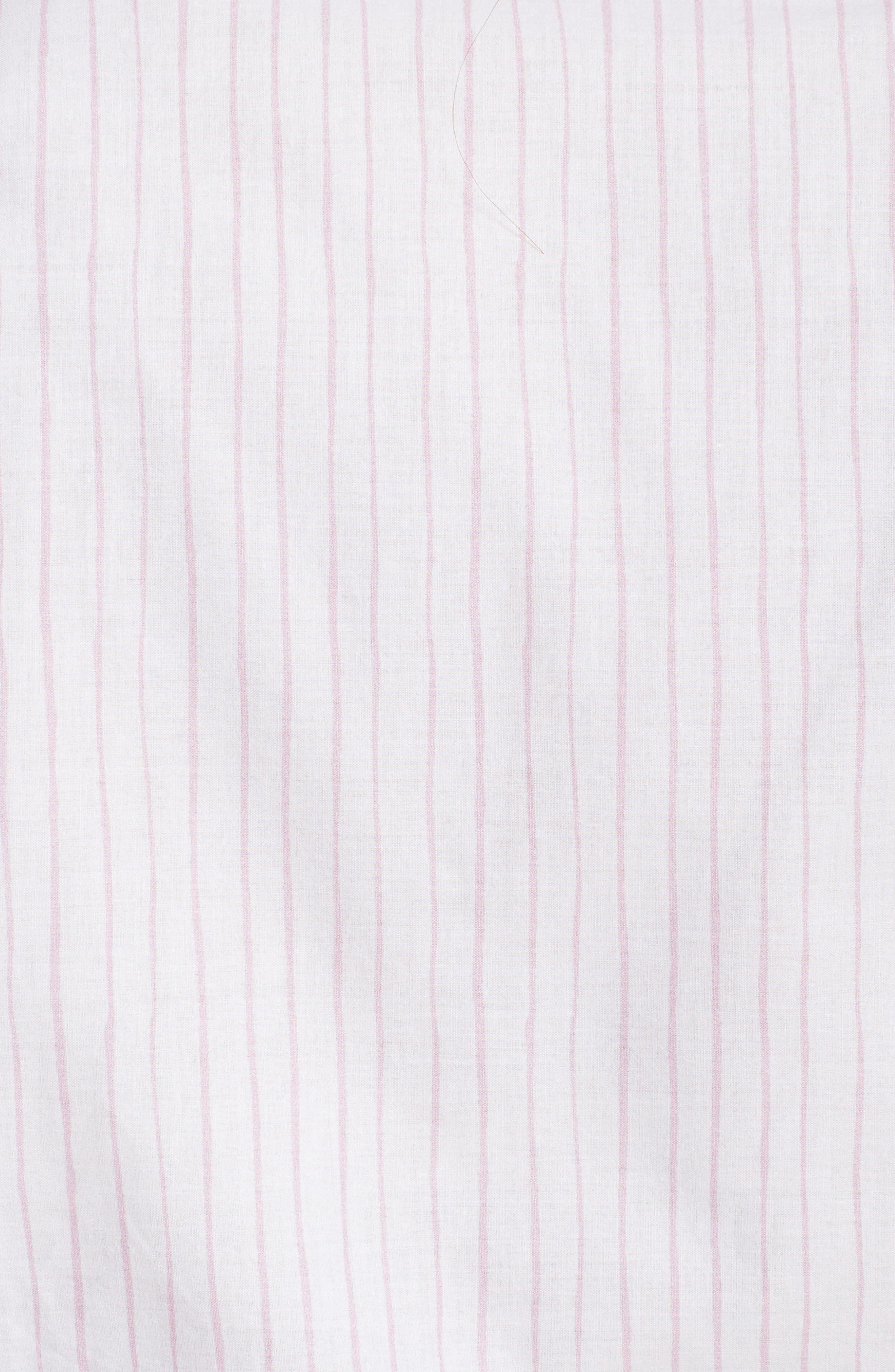 Stripe Robe,                             Alternate thumbnail 6, color,                             Pink Stripe