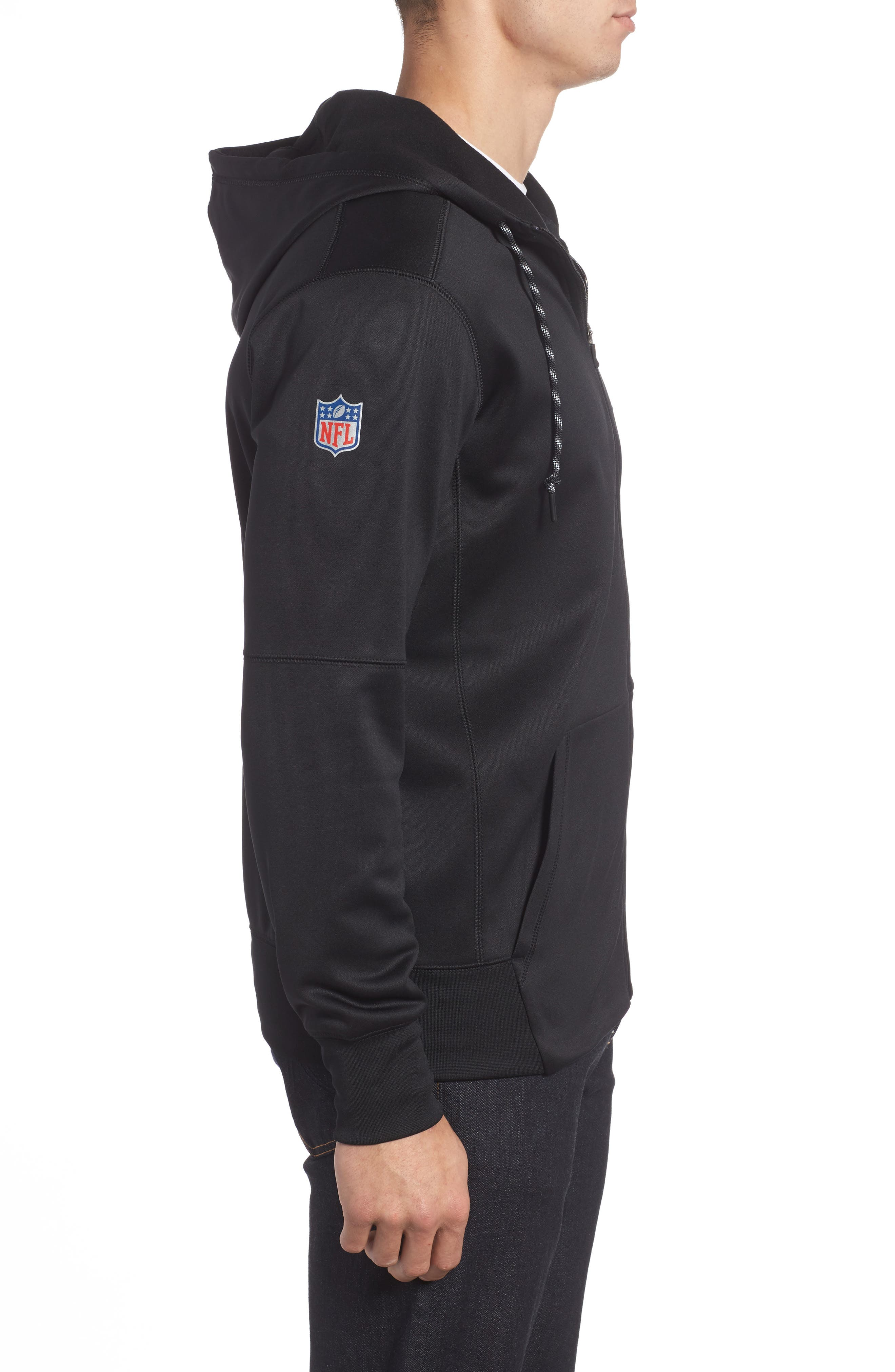 Therma-FIT NFL Graphic Zip Hoodie,                             Alternate thumbnail 5, color,                             Raiders