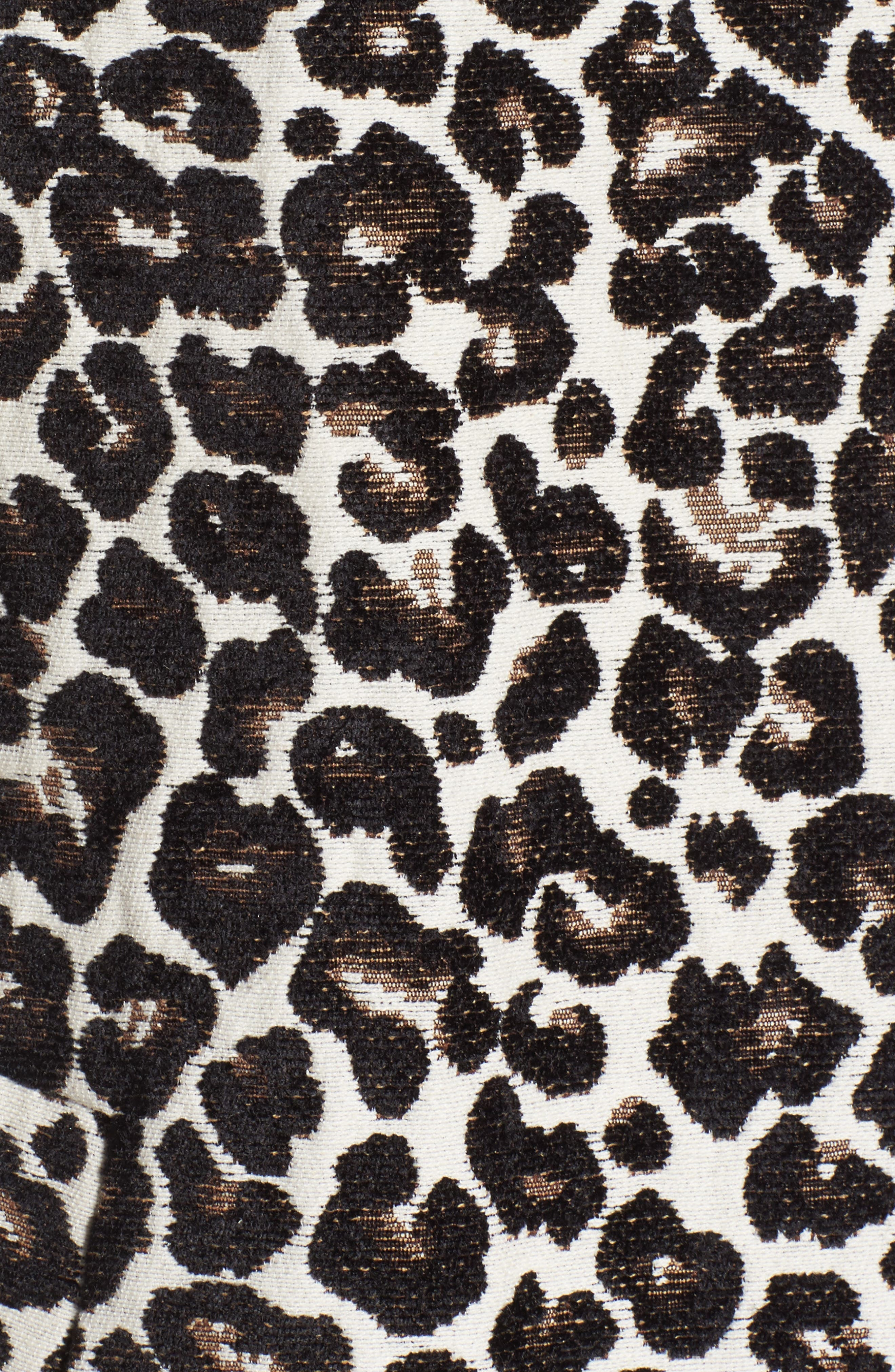 Leopard Print Car Coat,                             Alternate thumbnail 5, color,                             Leopard